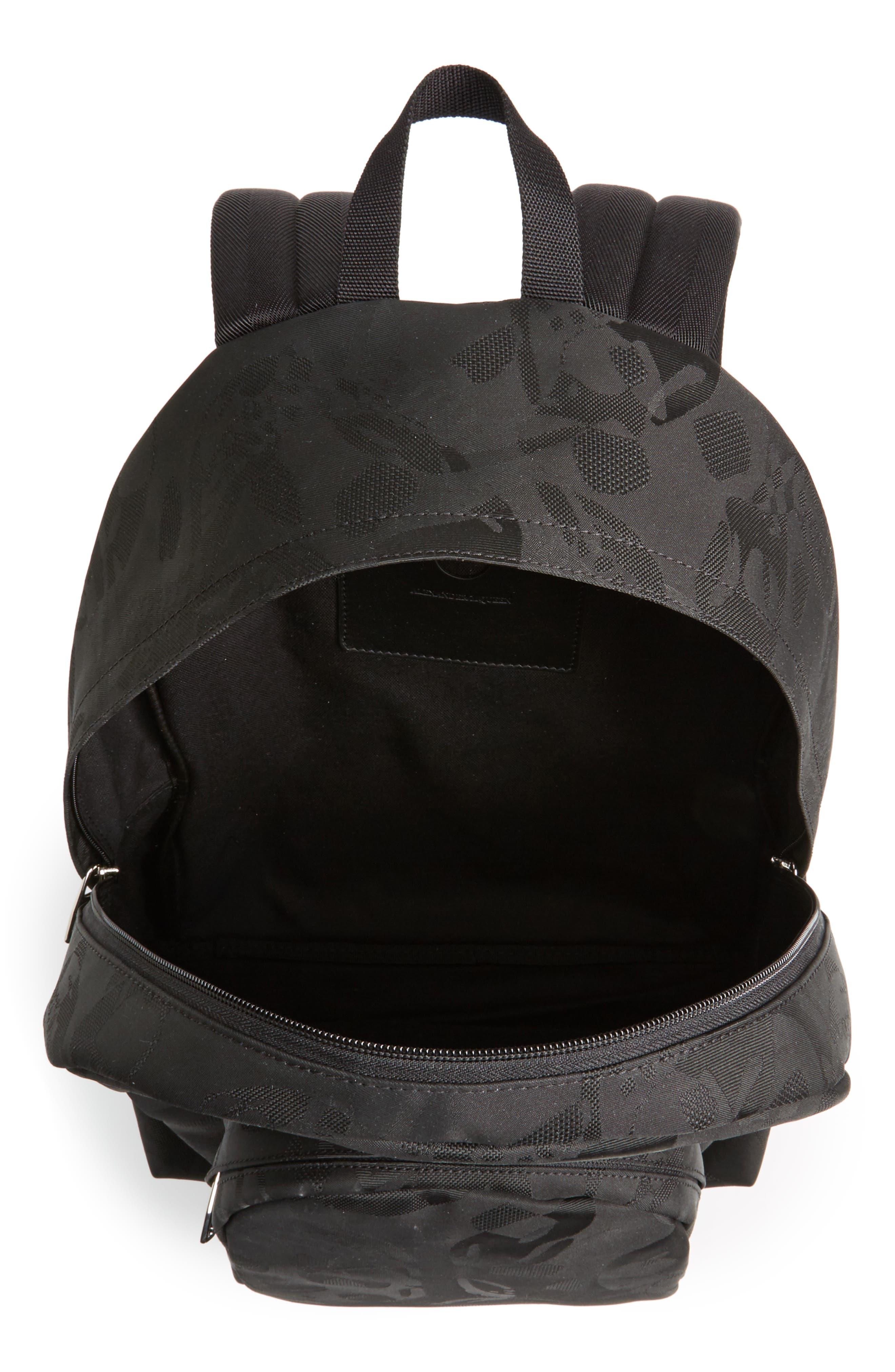 Small Backpack,                             Alternate thumbnail 4, color,                             Black