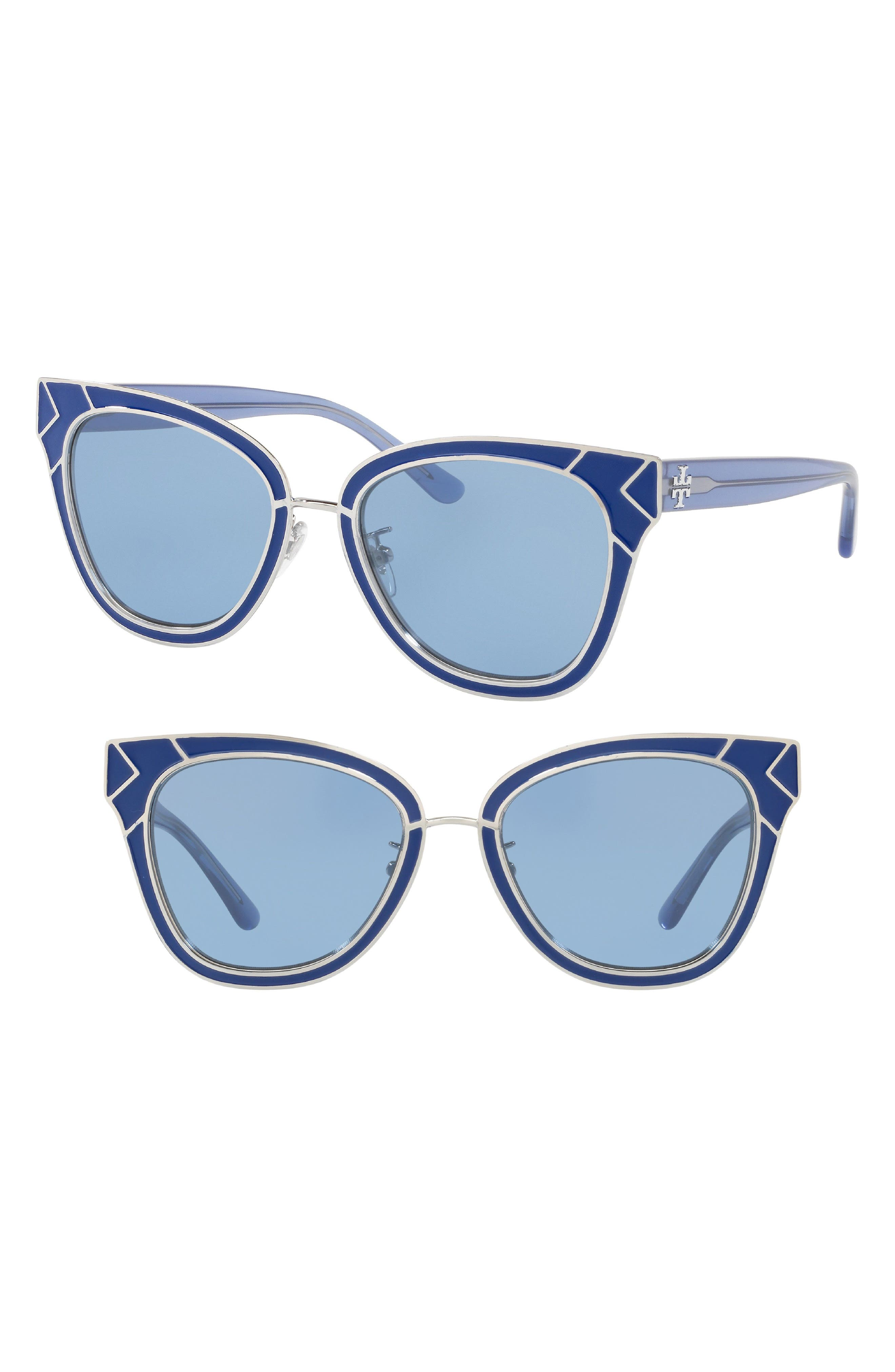 Tory Burch Enamel San Ray 53mm Sunglasses