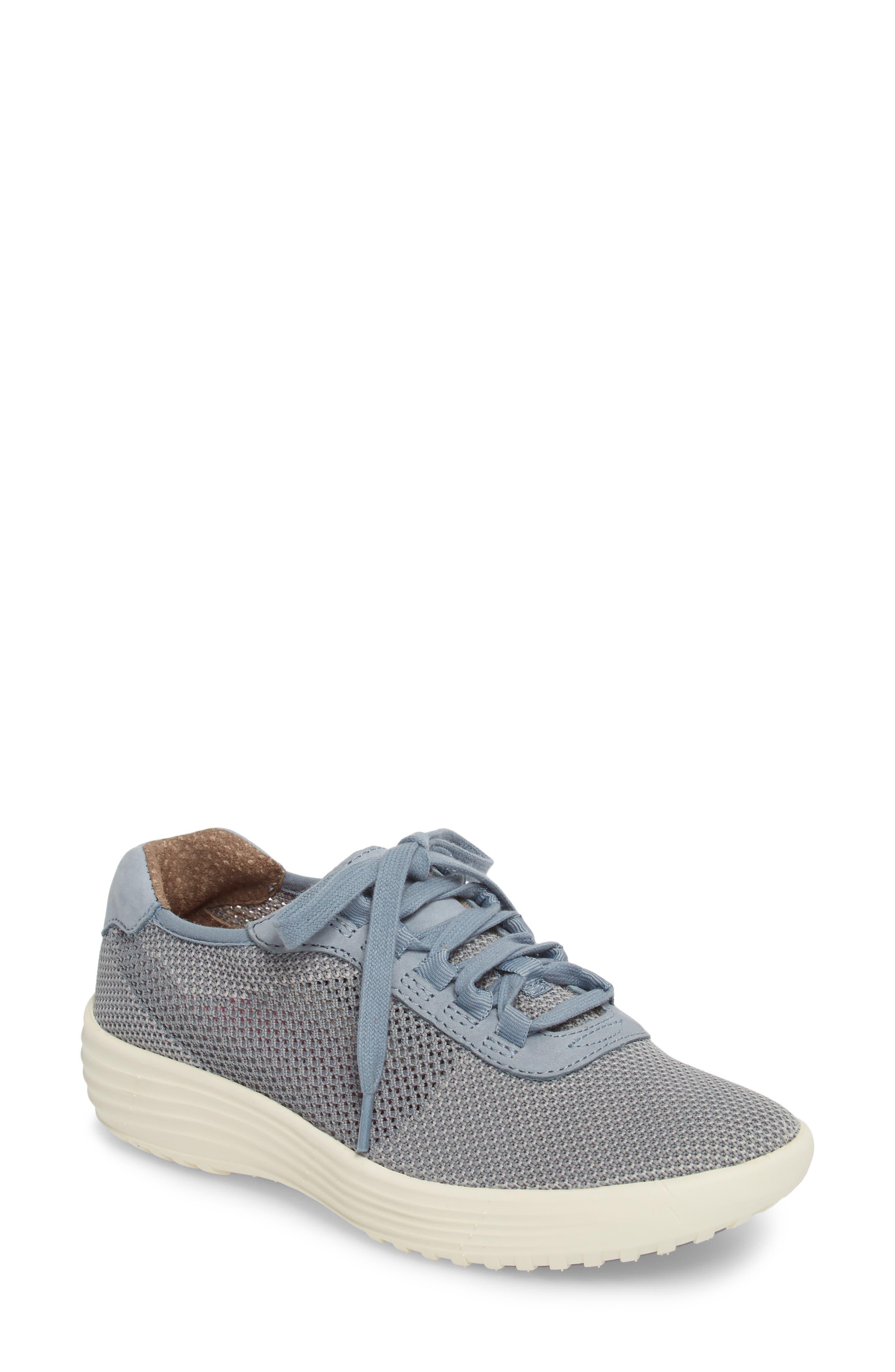 Malibu Sneaker,                         Main,                         color, Chambray Grey Knit Fabric