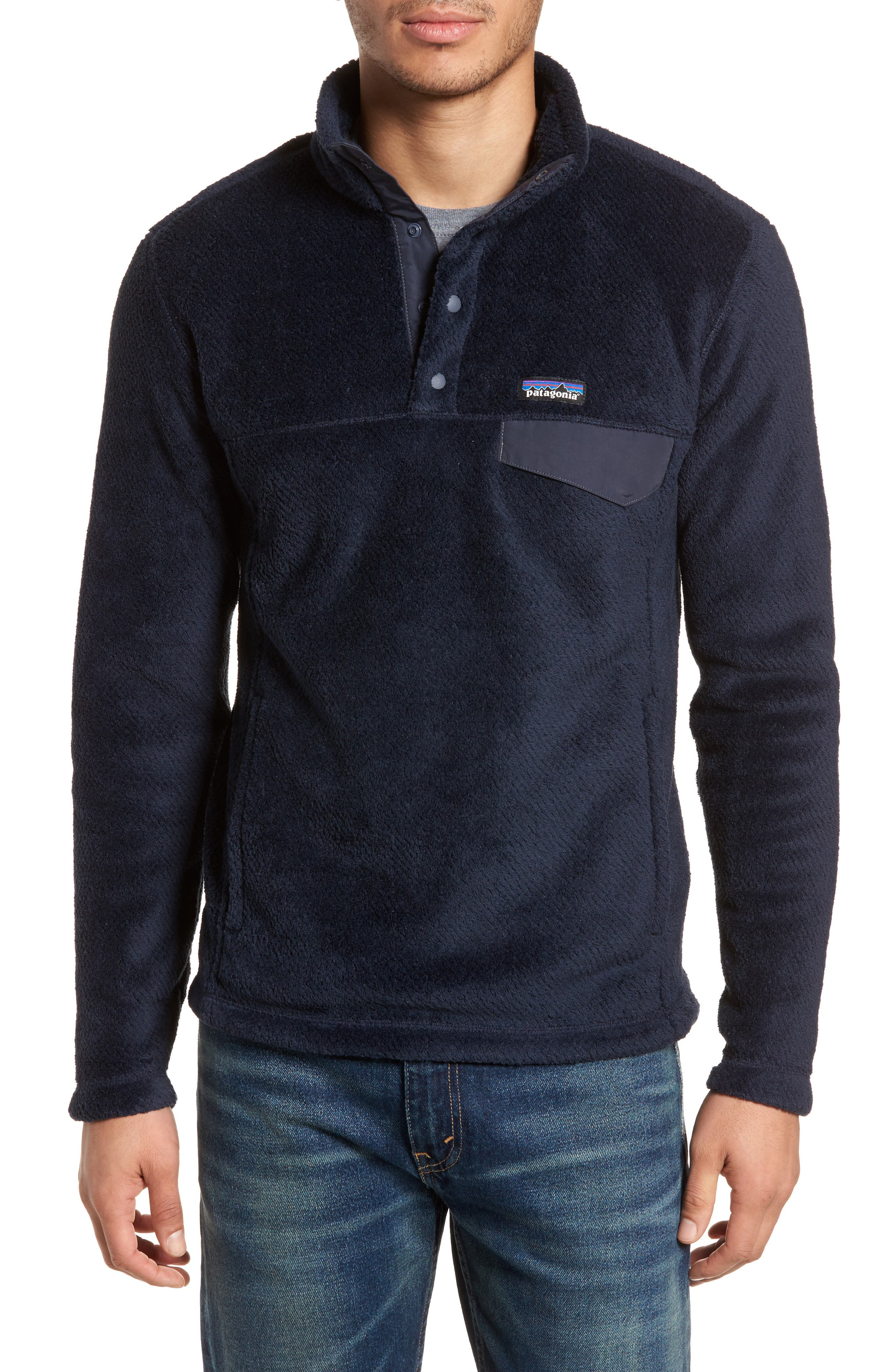 Re-Tool Snap-T<sup>®</sup> Pullover,                             Main thumbnail 1, color,                             Navy Blue X-Dye