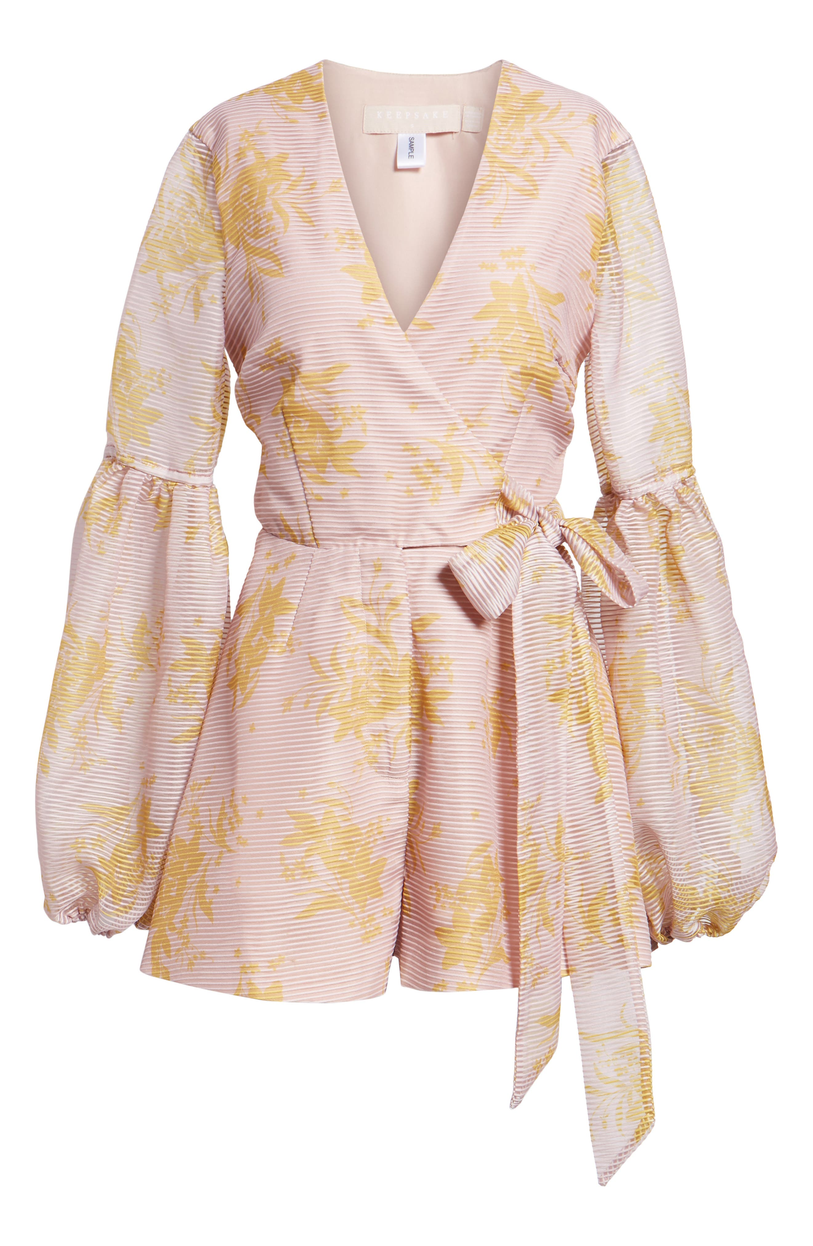 Stand Tall Romper,                             Alternate thumbnail 6, color,                             Blush Stencil Floral