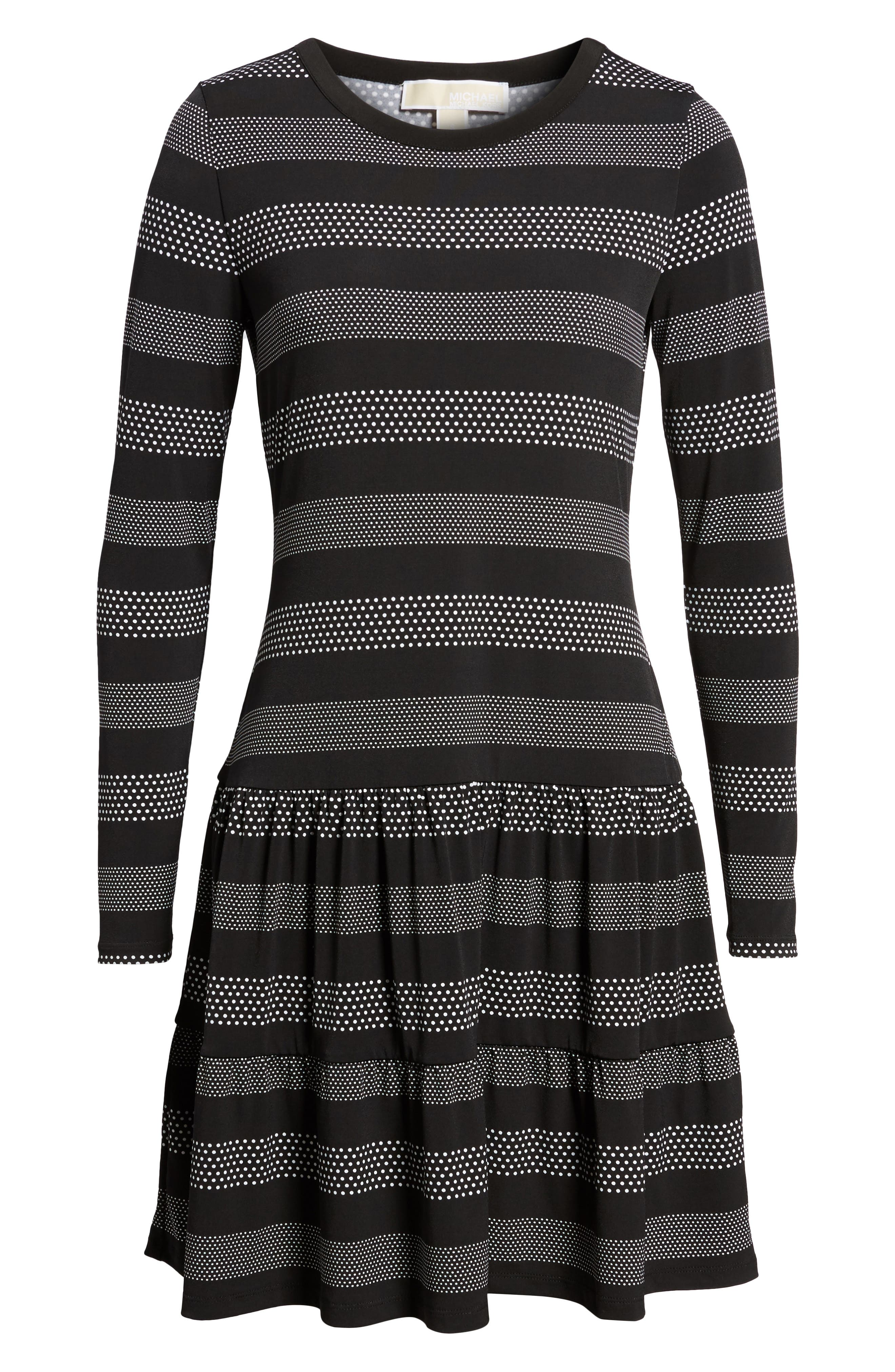 Alternate Image 6  - MICHAEL Michael Kors Stripe Dot Drop Waist Dress