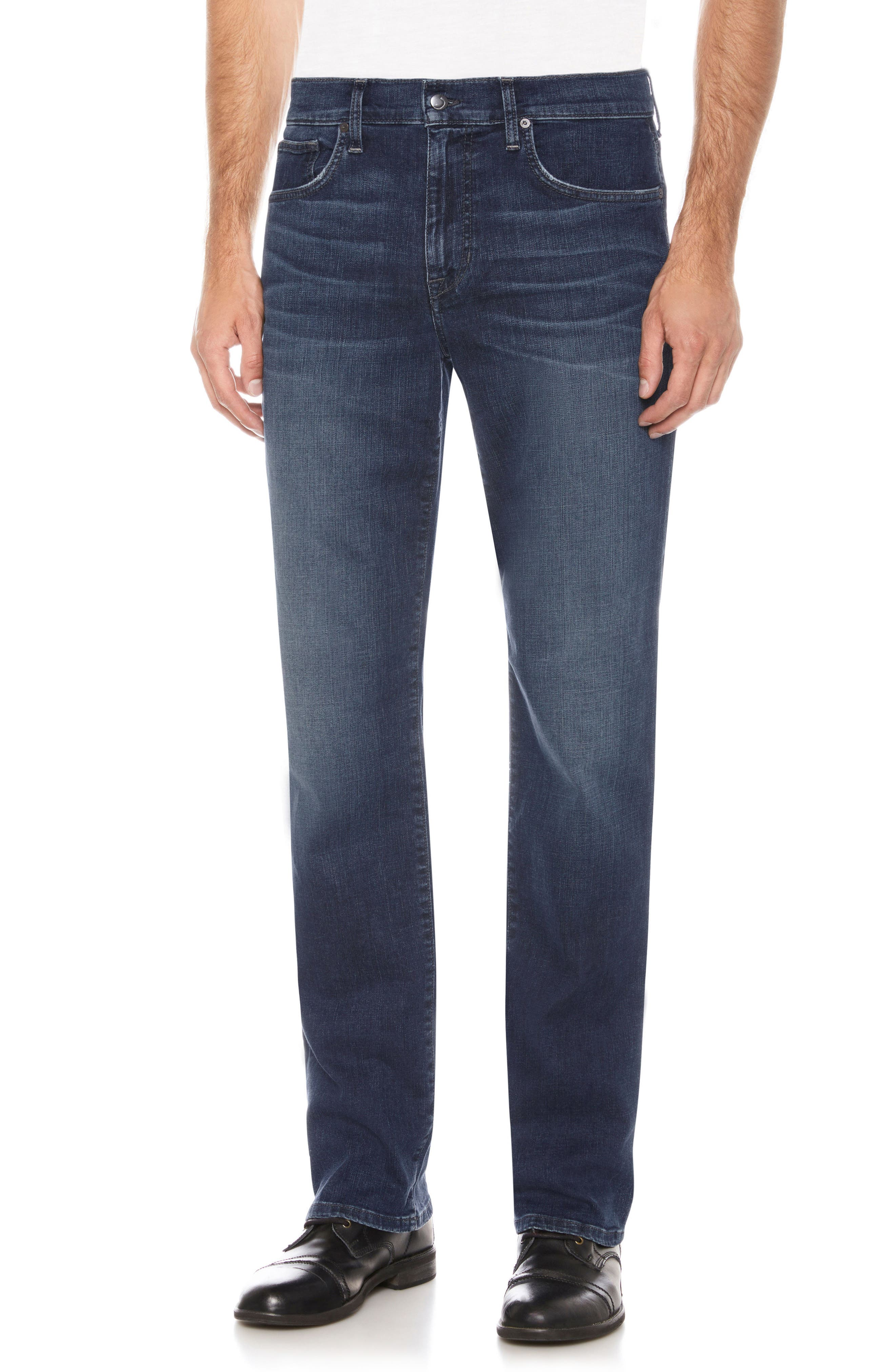 Classic Straight Fit Jeans,                         Main,                         color, Belding