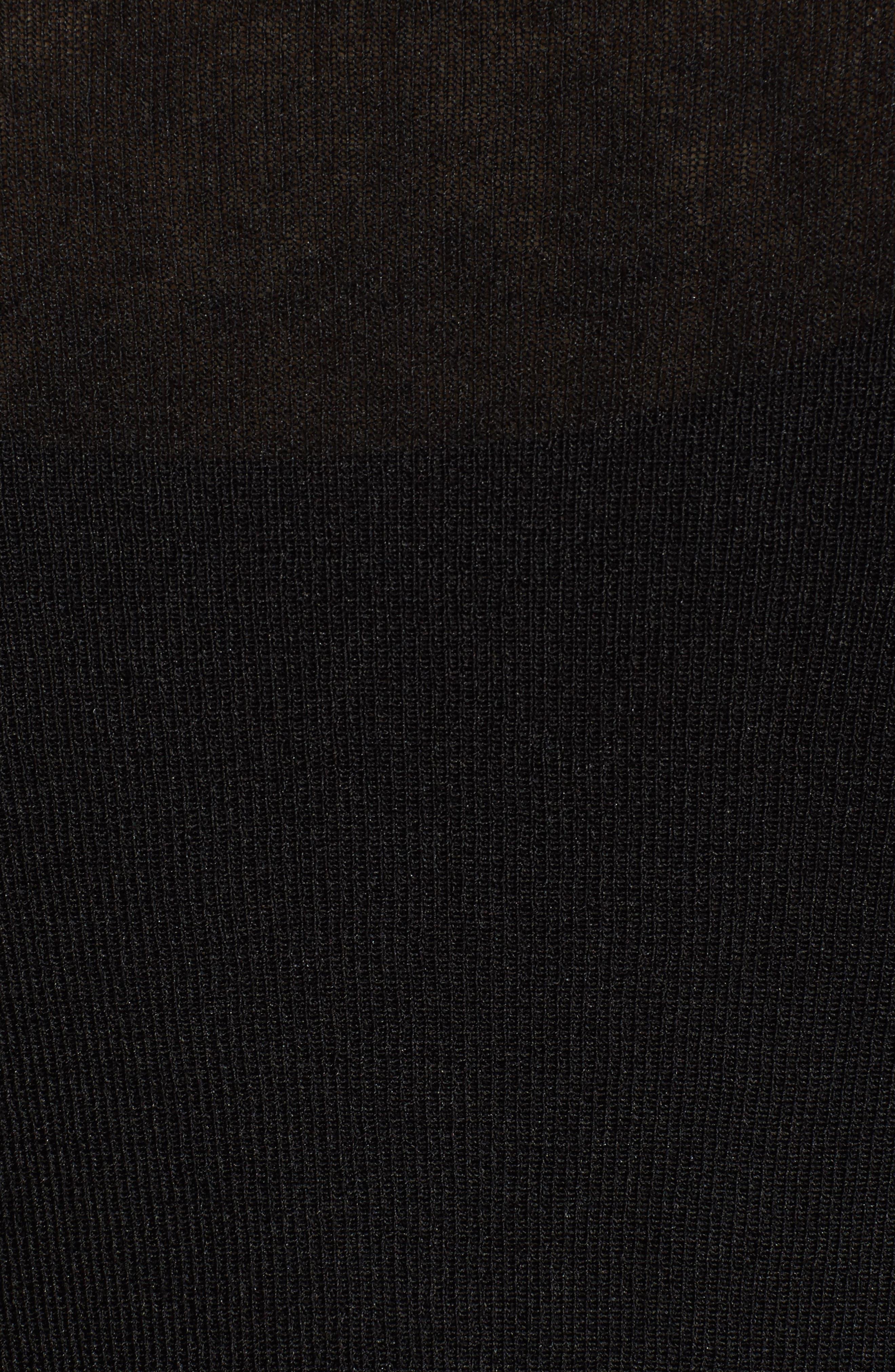 Open Cardigan,                             Alternate thumbnail 6, color,                             Black