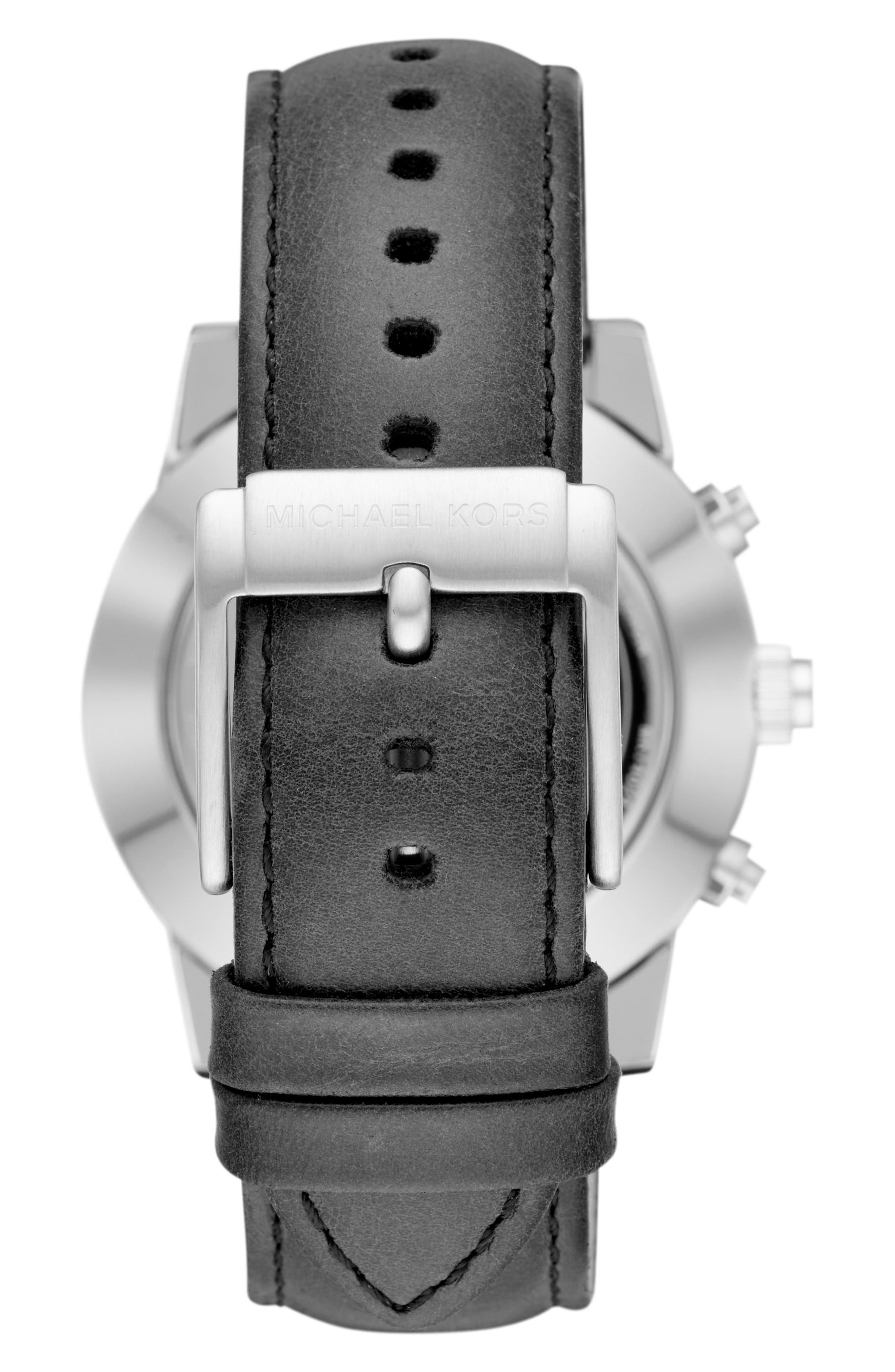 Alternate Image 3  - Michael Kors Access Scout Hybrid Leather Strap Smart Watch, 43mm