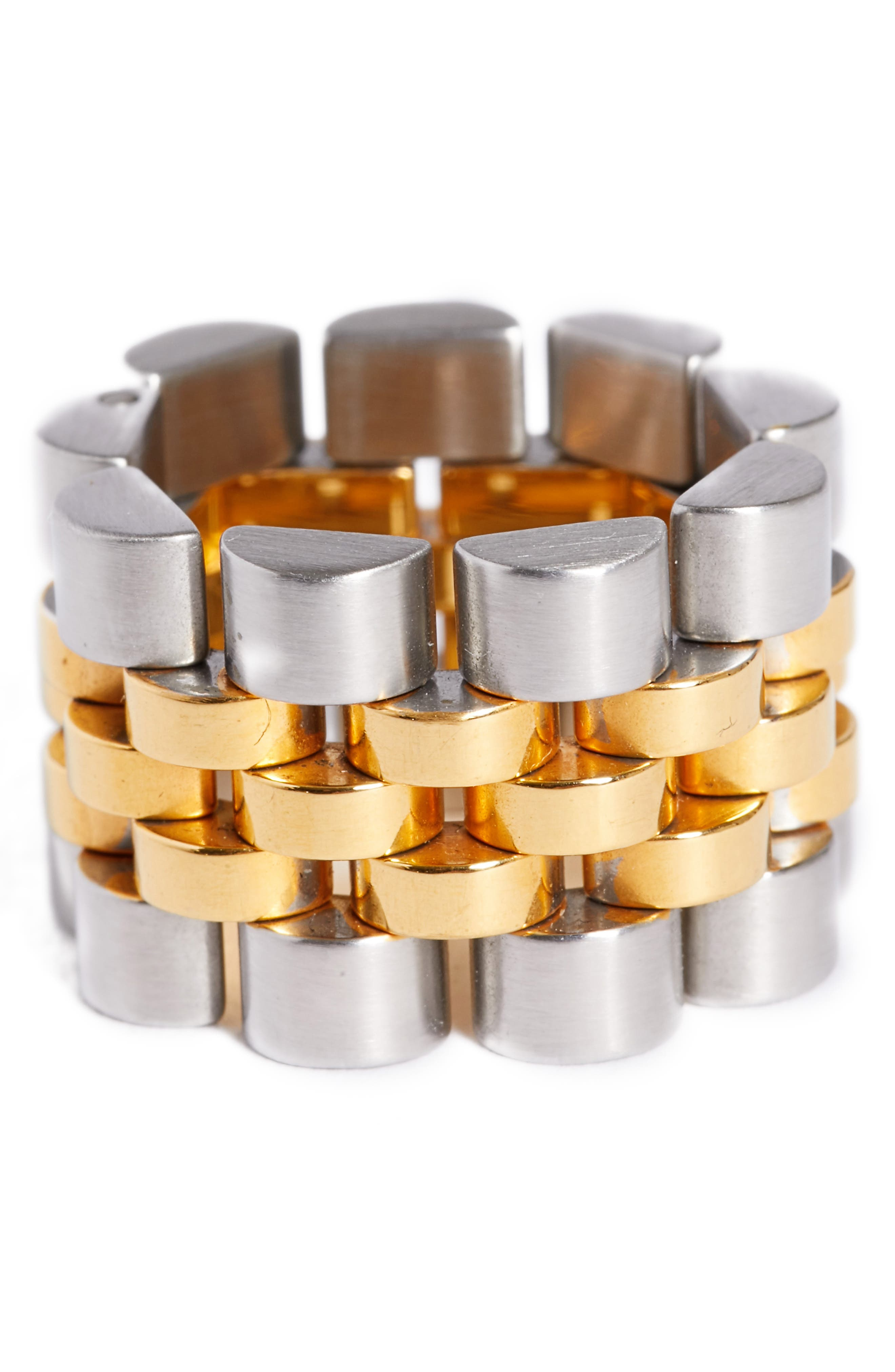 Watch Strap Ring,                         Main,                         color, Gold