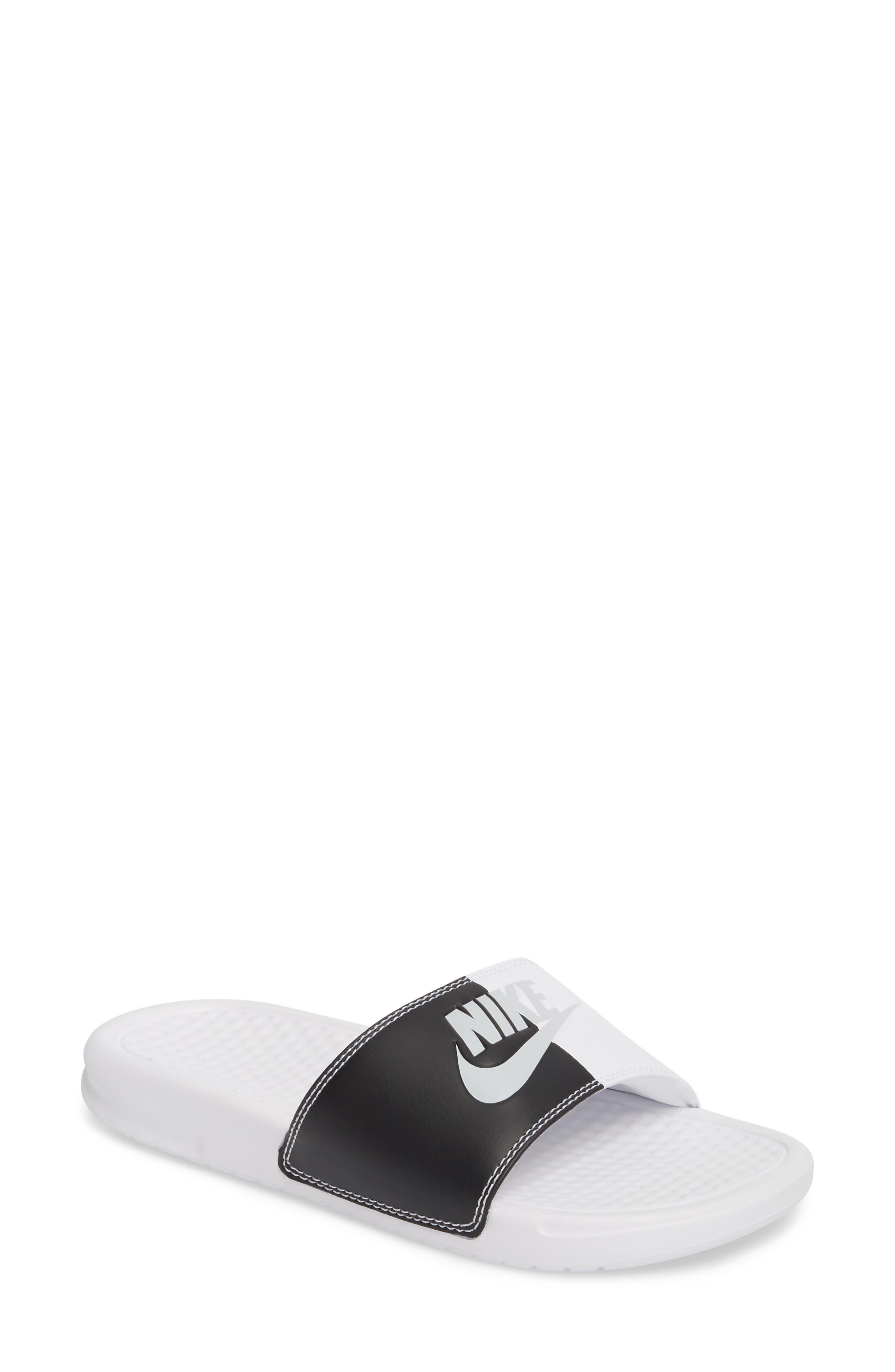 Benassi JDI Slide Sandal,                         Main,                         color, White/ Pure Platinum