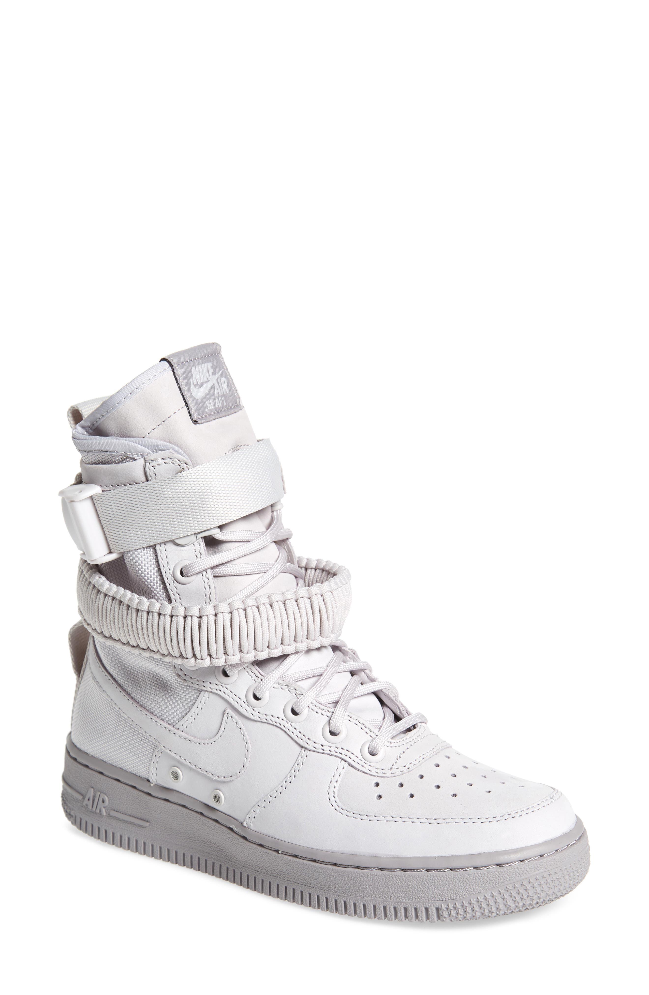 SF Air Force 1 High Top Sneaker,                             Main thumbnail 1, color,                             Vast Grey/ Vast Grey