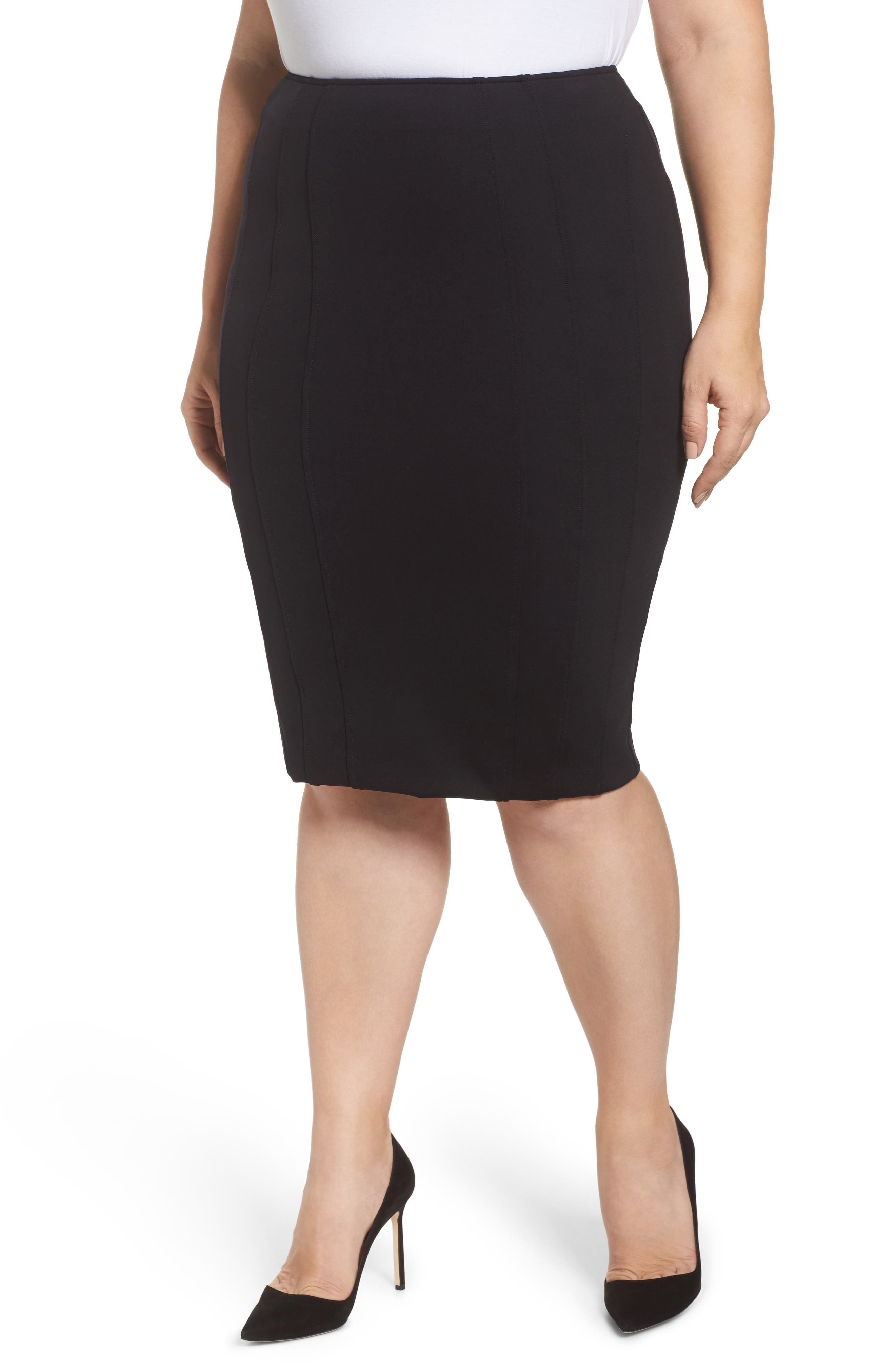 Ashley Graham x Marina Rinaldi Ocraceo Jersey Pencil Skirt (Regular & Plus Size)