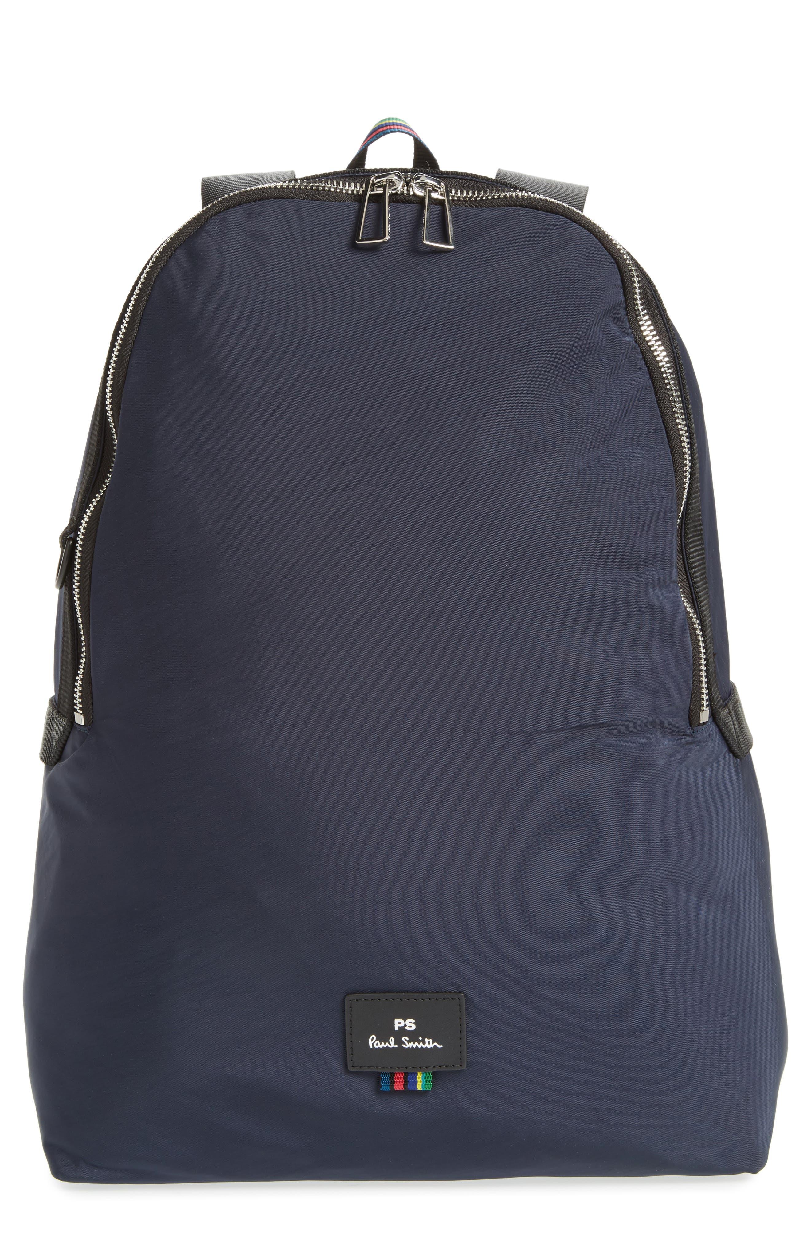 Nylon Backpack,                         Main,                         color, Navy