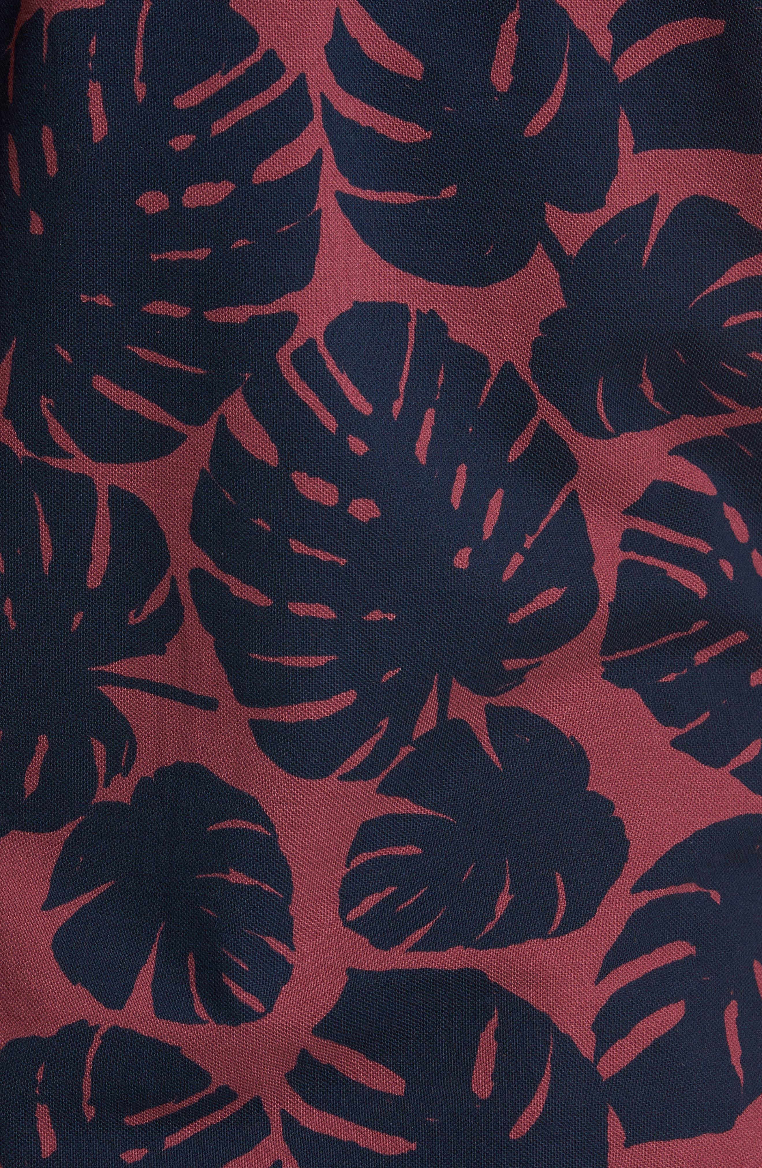 Print Piqué Polo,                             Alternate thumbnail 5, color,                             Leaf Print