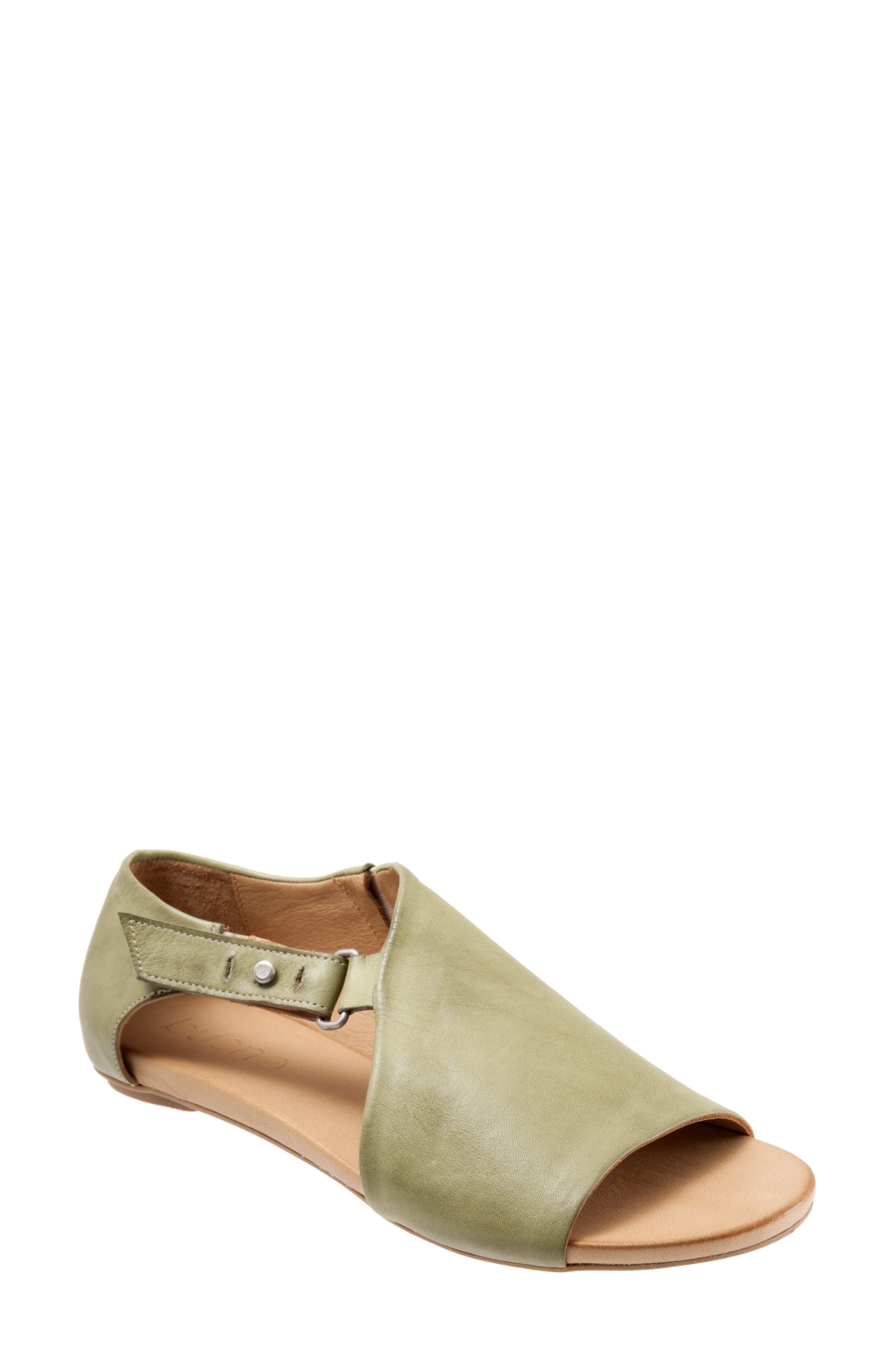 Kale Sandal,                             Main thumbnail 1, color,                             Moss Leather