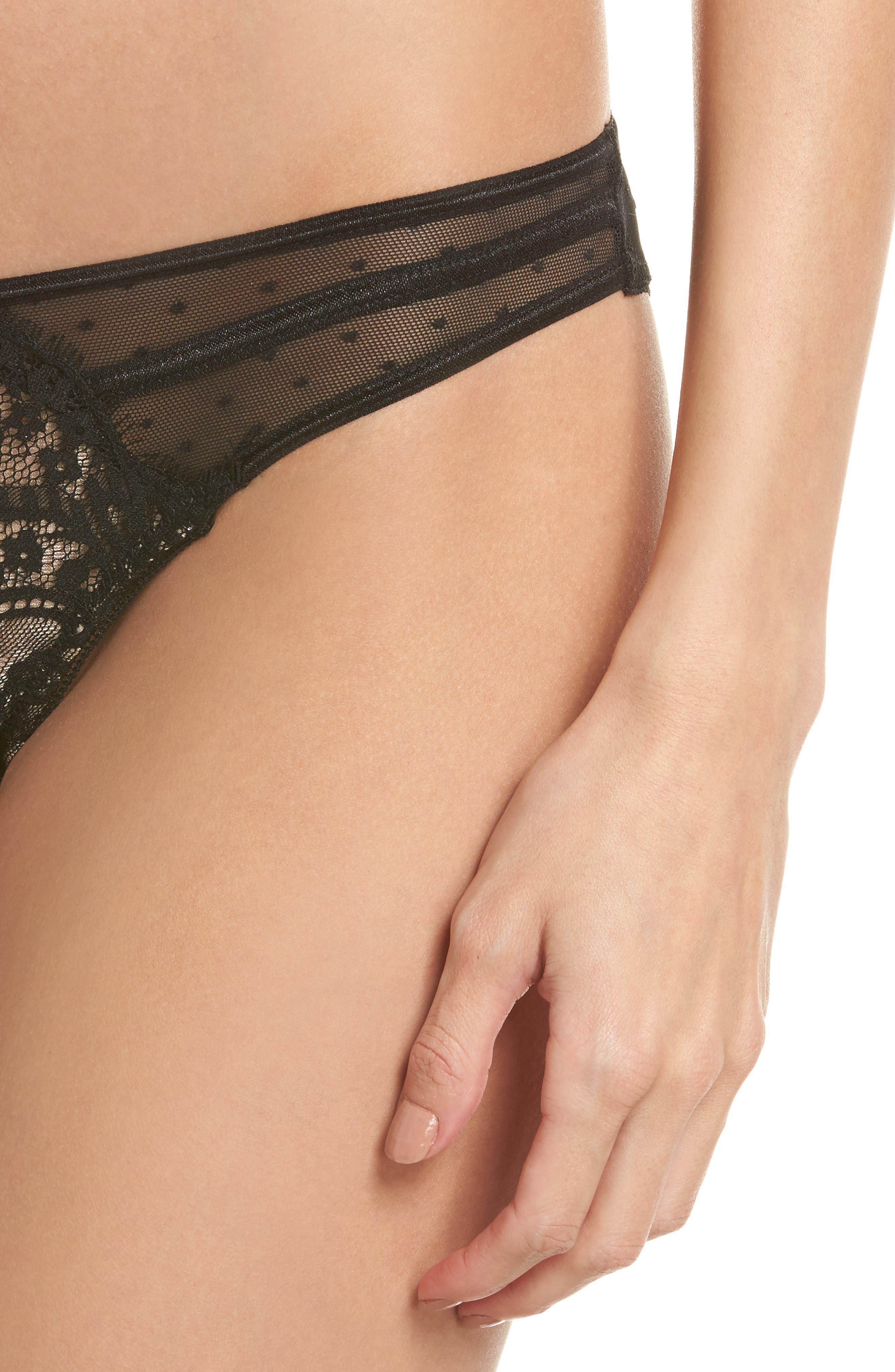 Between Sheets Panties,                             Alternate thumbnail 8, color,                             Black/ Nude