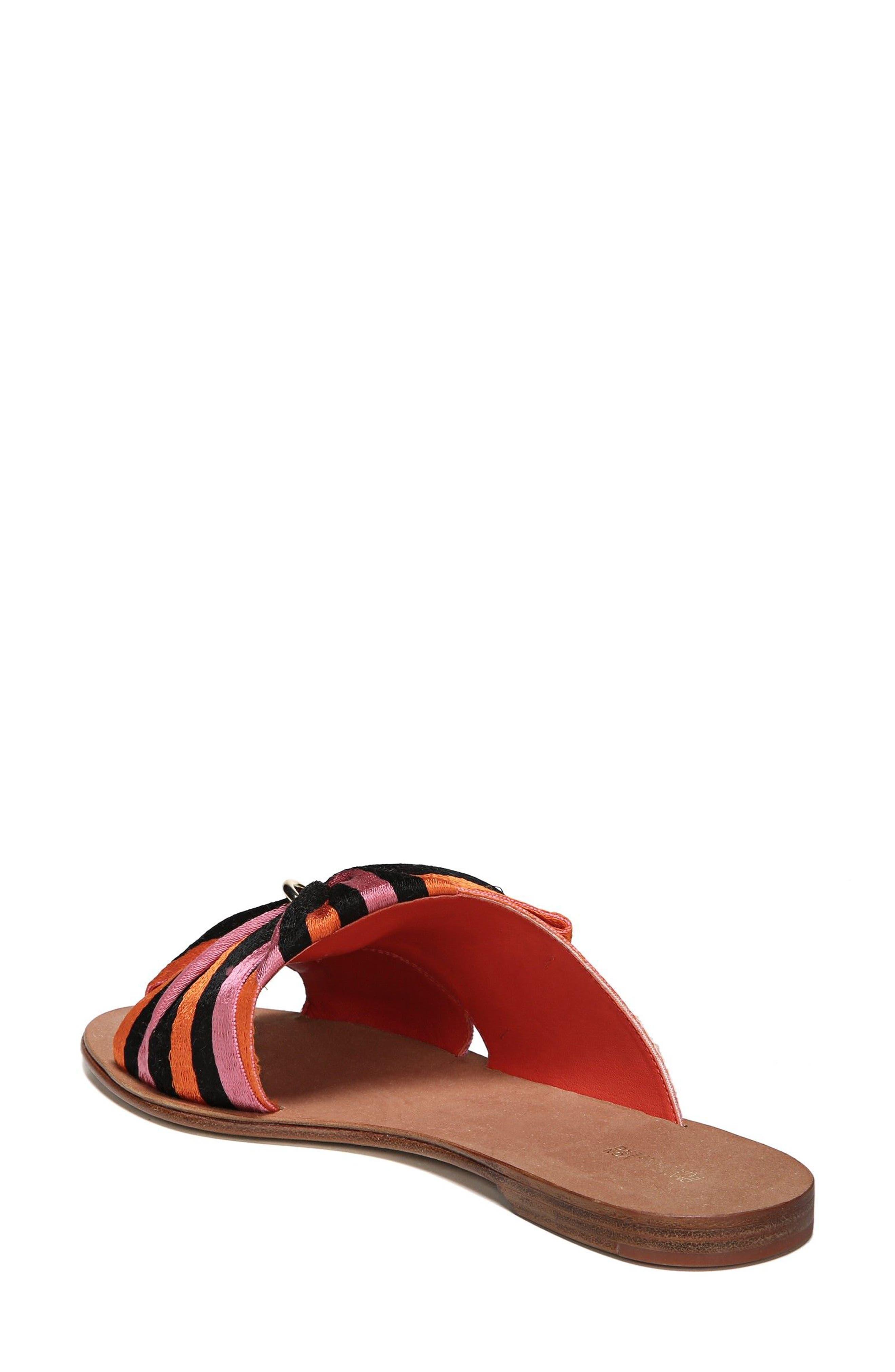 Bella Asymmetrical Slide Sandal,                             Alternate thumbnail 2, color,                             Rose Multi