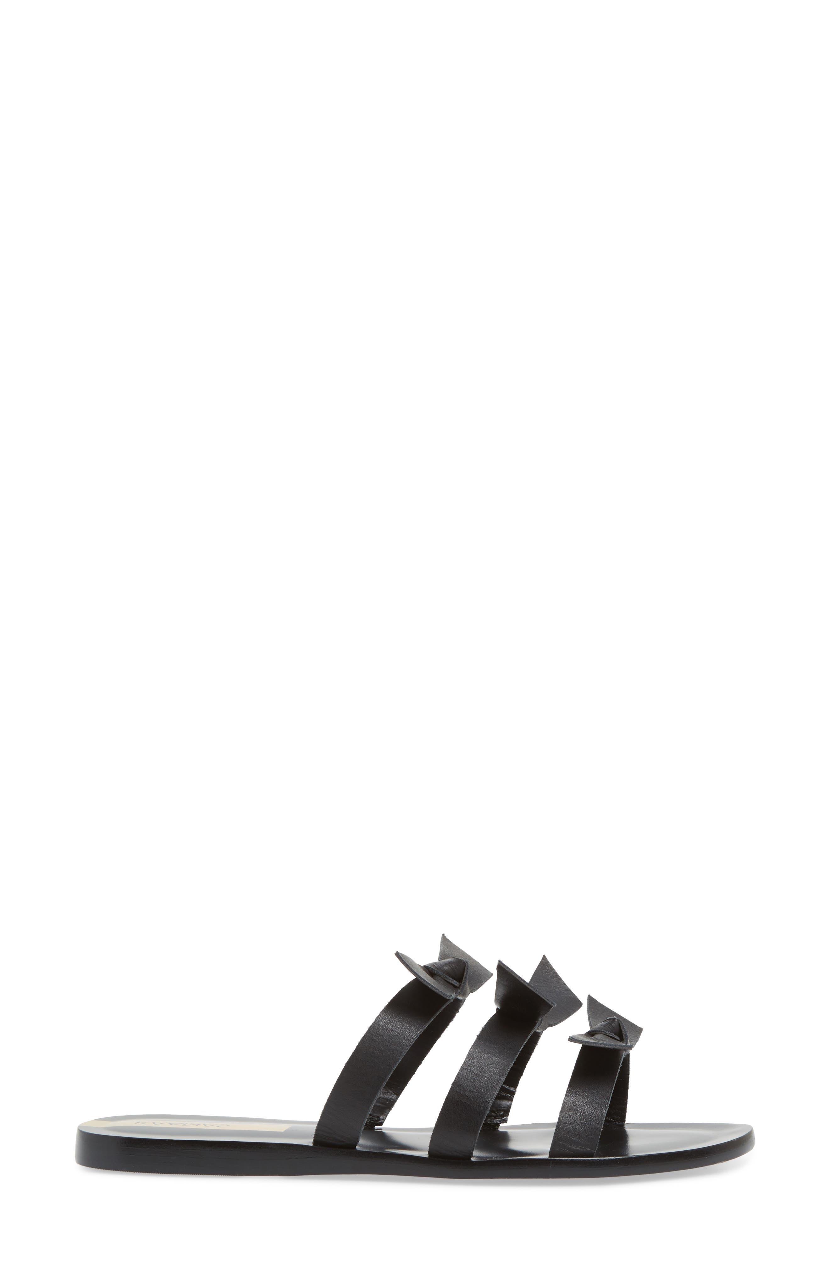 Recife Knotted Slide Sandal,                             Alternate thumbnail 3, color,                             Black