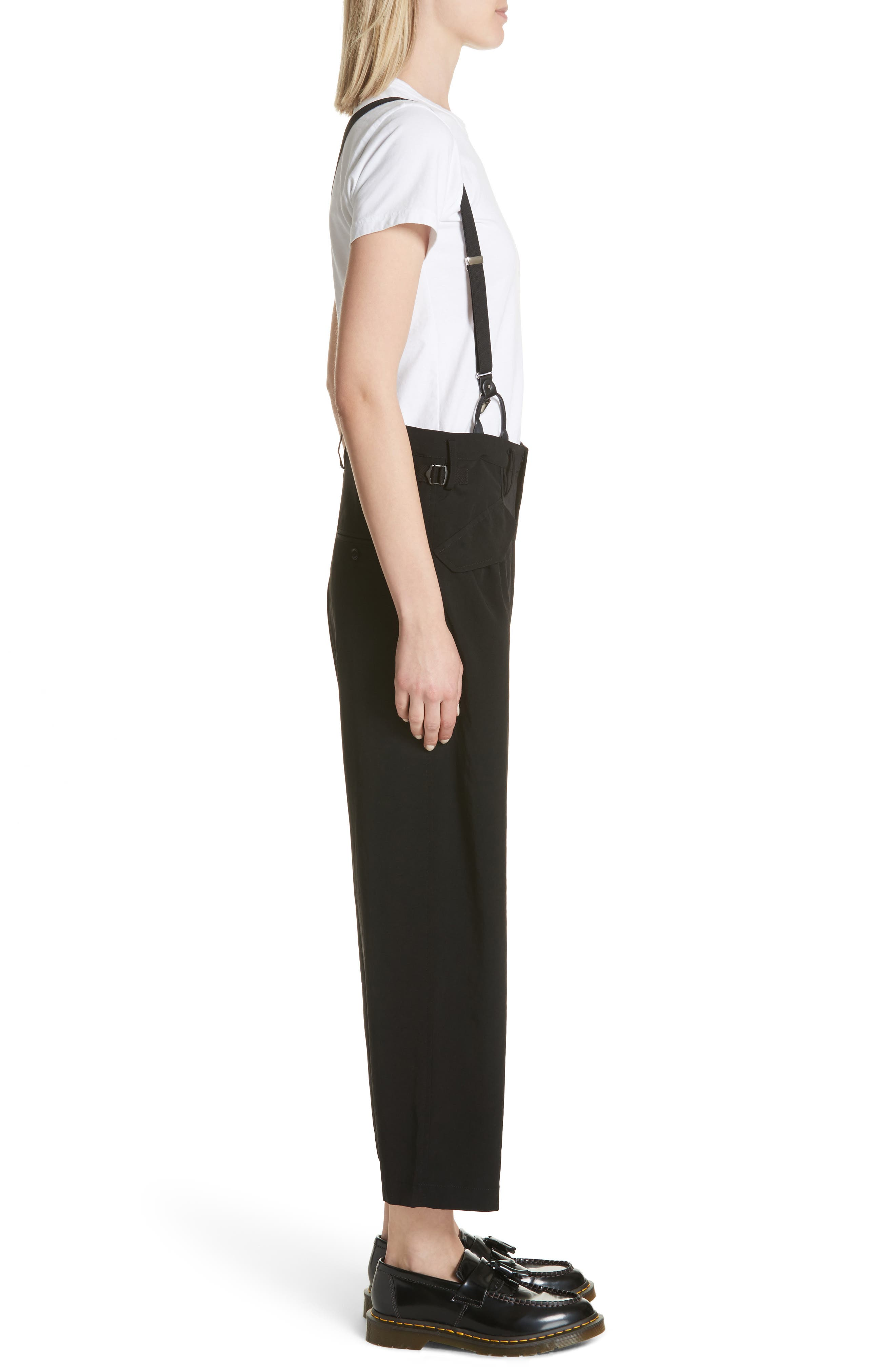 Pants with Suspenders,                             Alternate thumbnail 3, color,                             Black