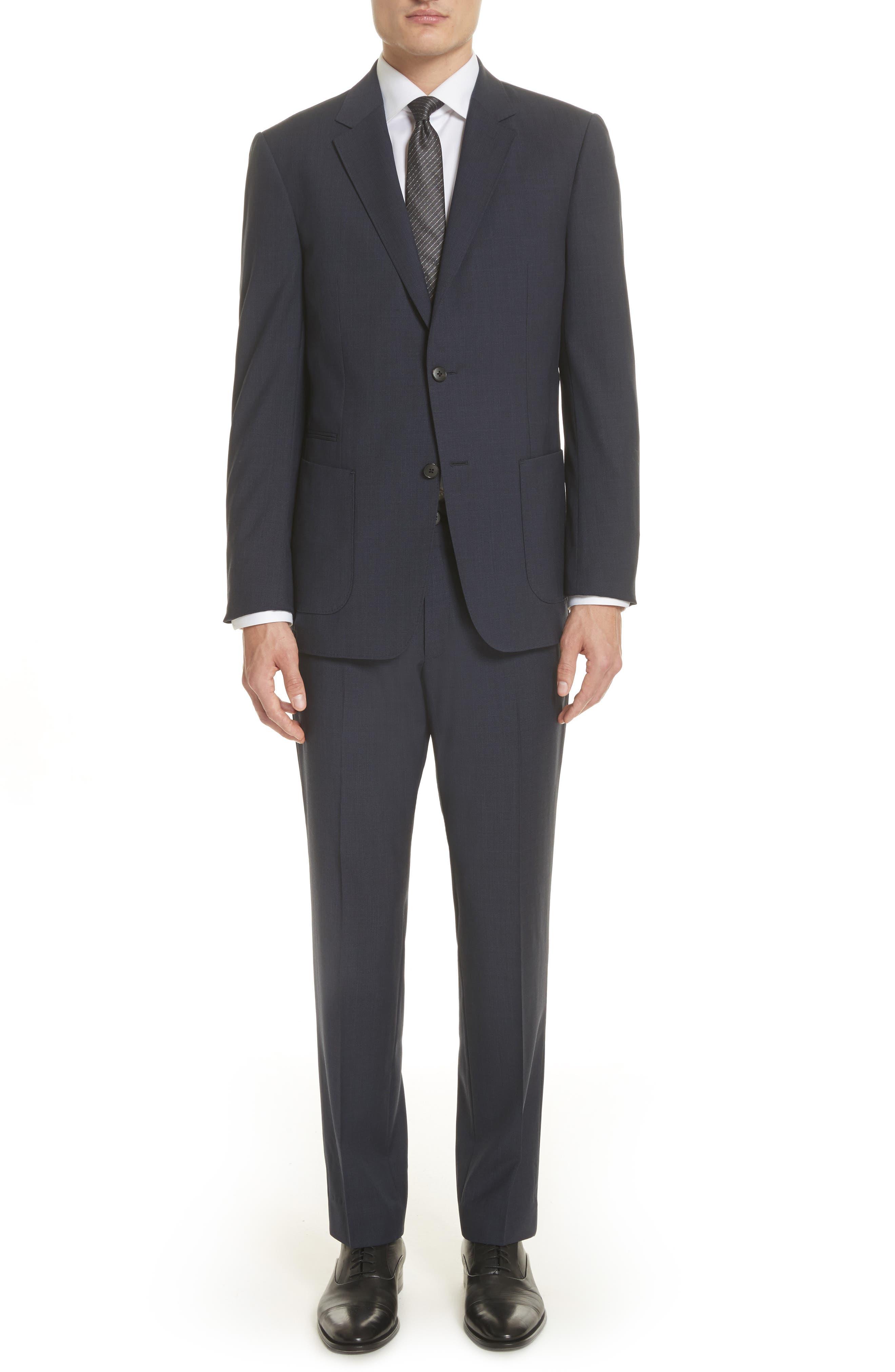 Z Zegna Techmerino™ Trim Fit Solid Wool Suit