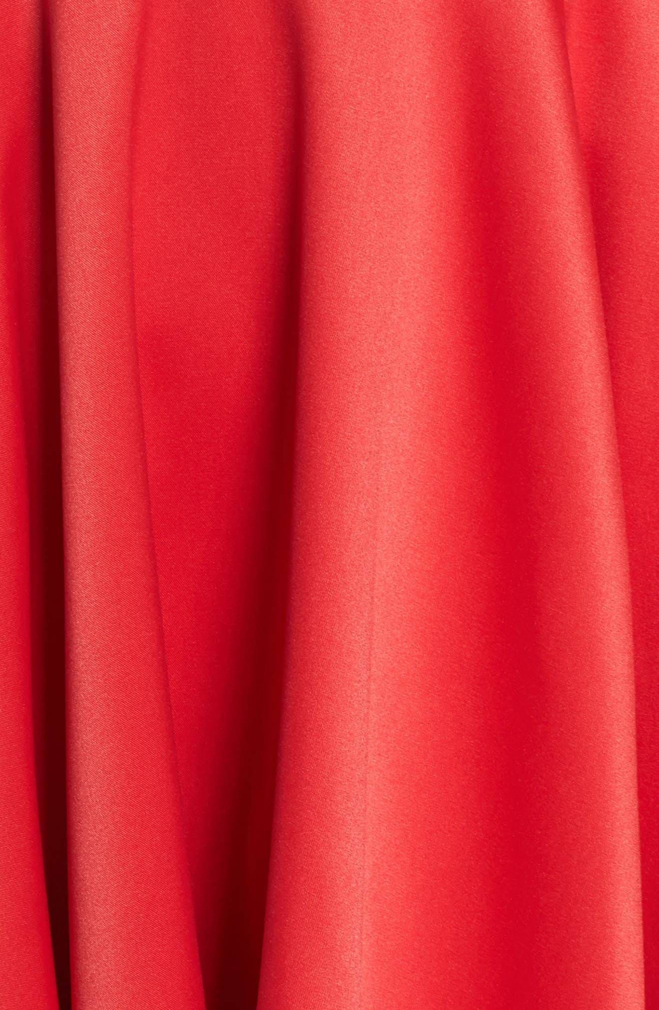 Cold Shoulder High/Low Gown,                             Alternate thumbnail 5, color,                             Red