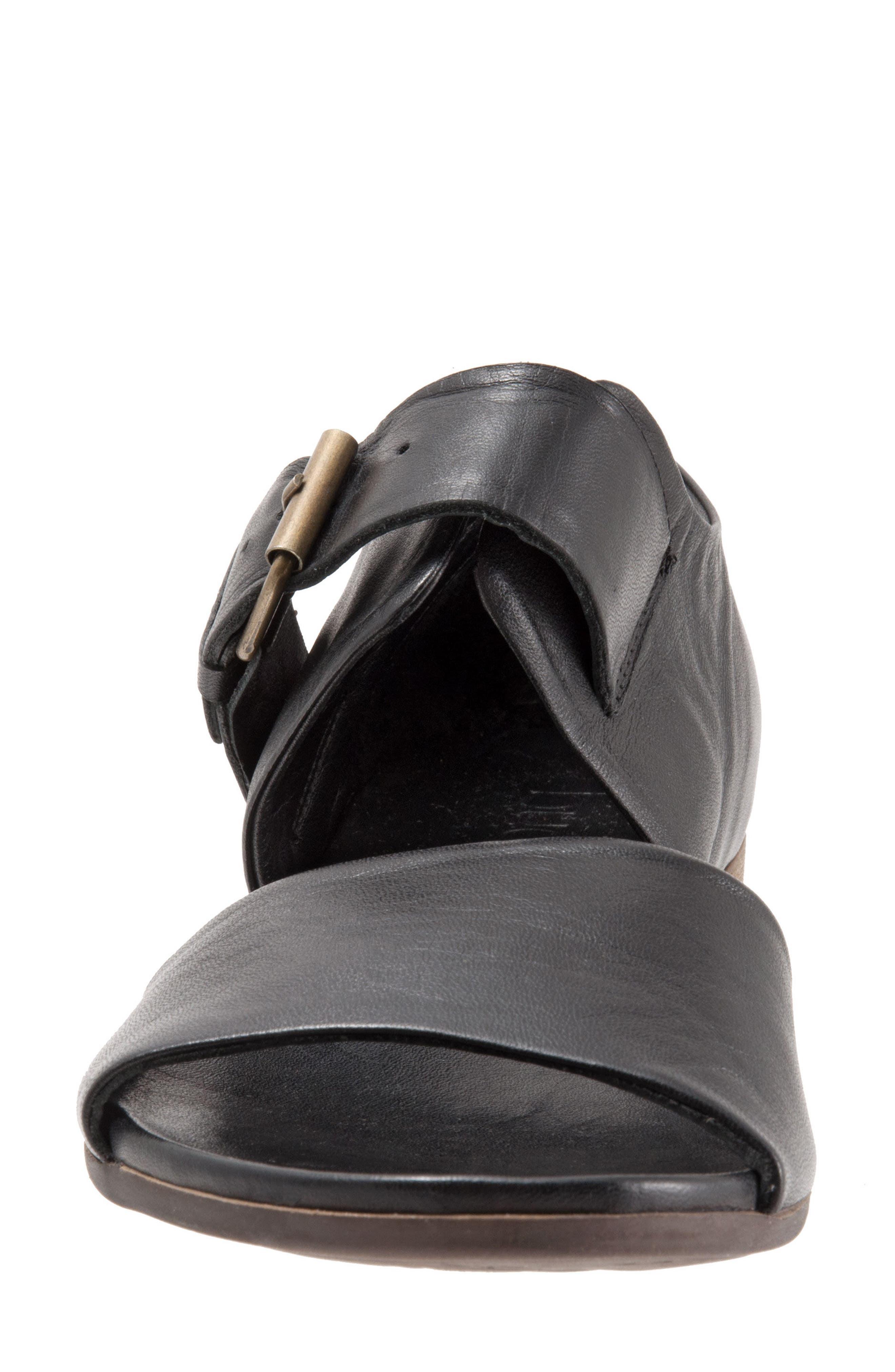 Talia Sandal,                             Alternate thumbnail 5, color,                             Black Leather