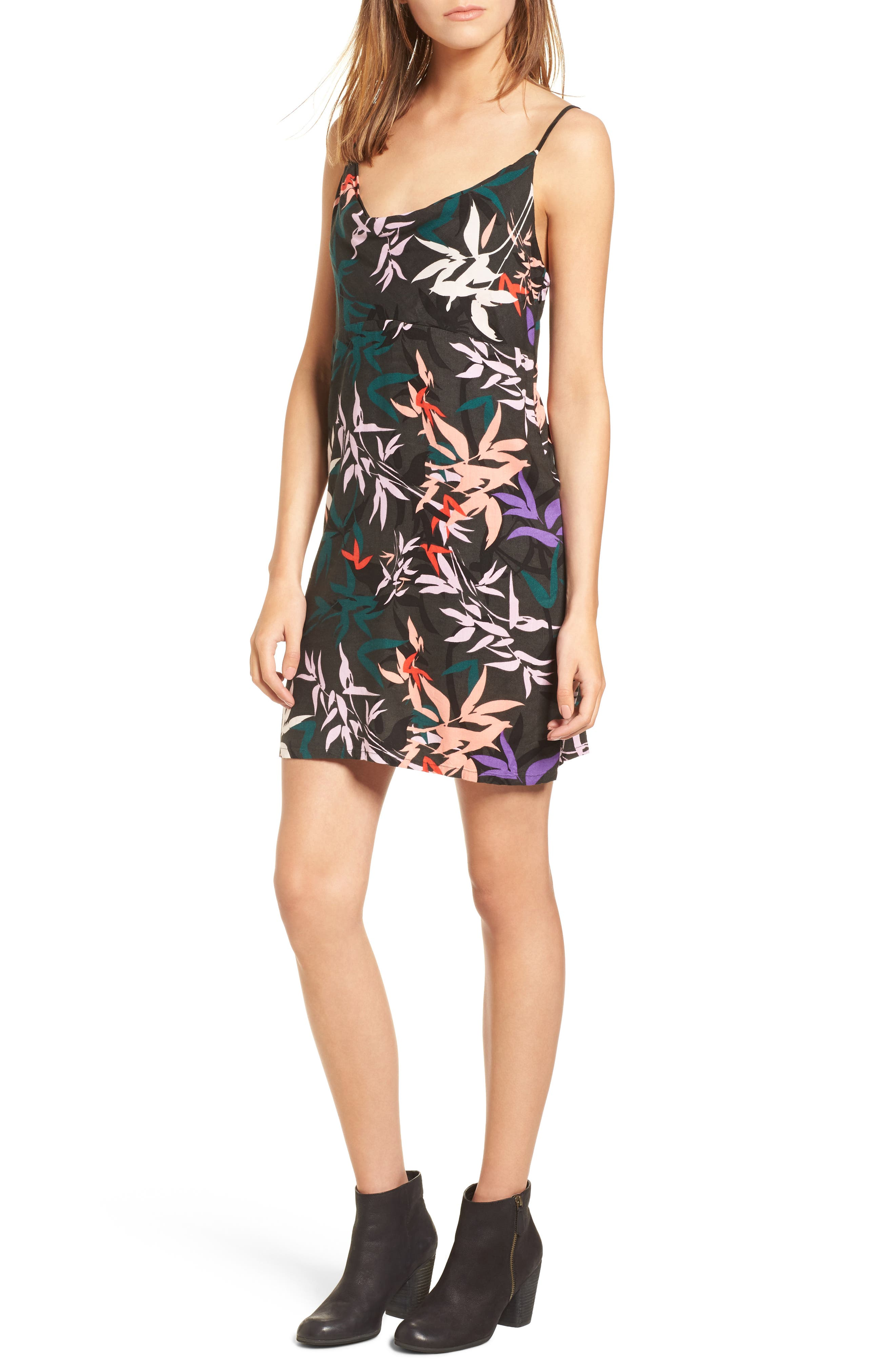 Obey Calyx Cowl Neck Dress