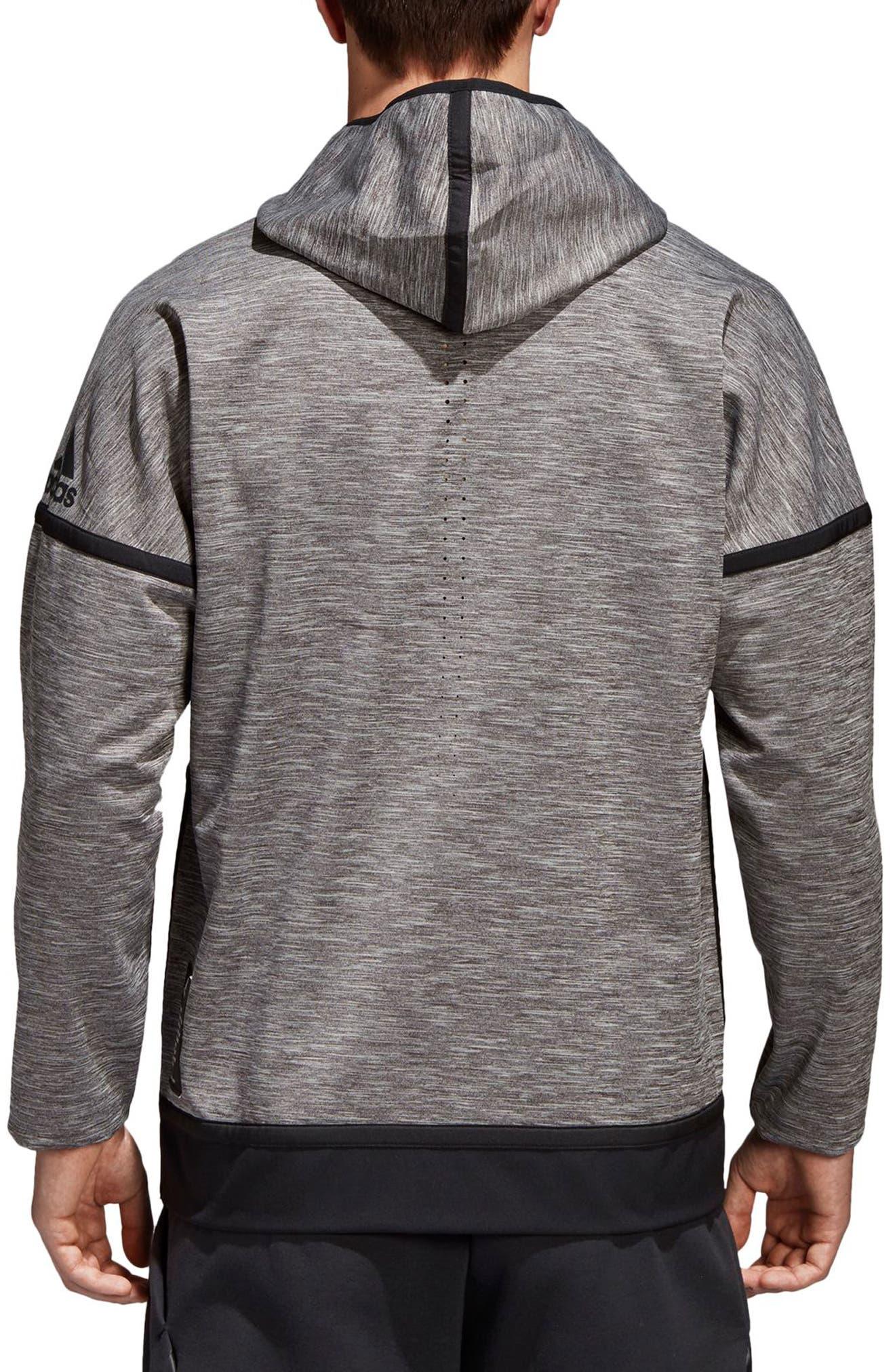 ZNE Regular Fit Reversible Hooded Jacket,                             Alternate thumbnail 2, color,                             Black / Storm Heather/ Mgh