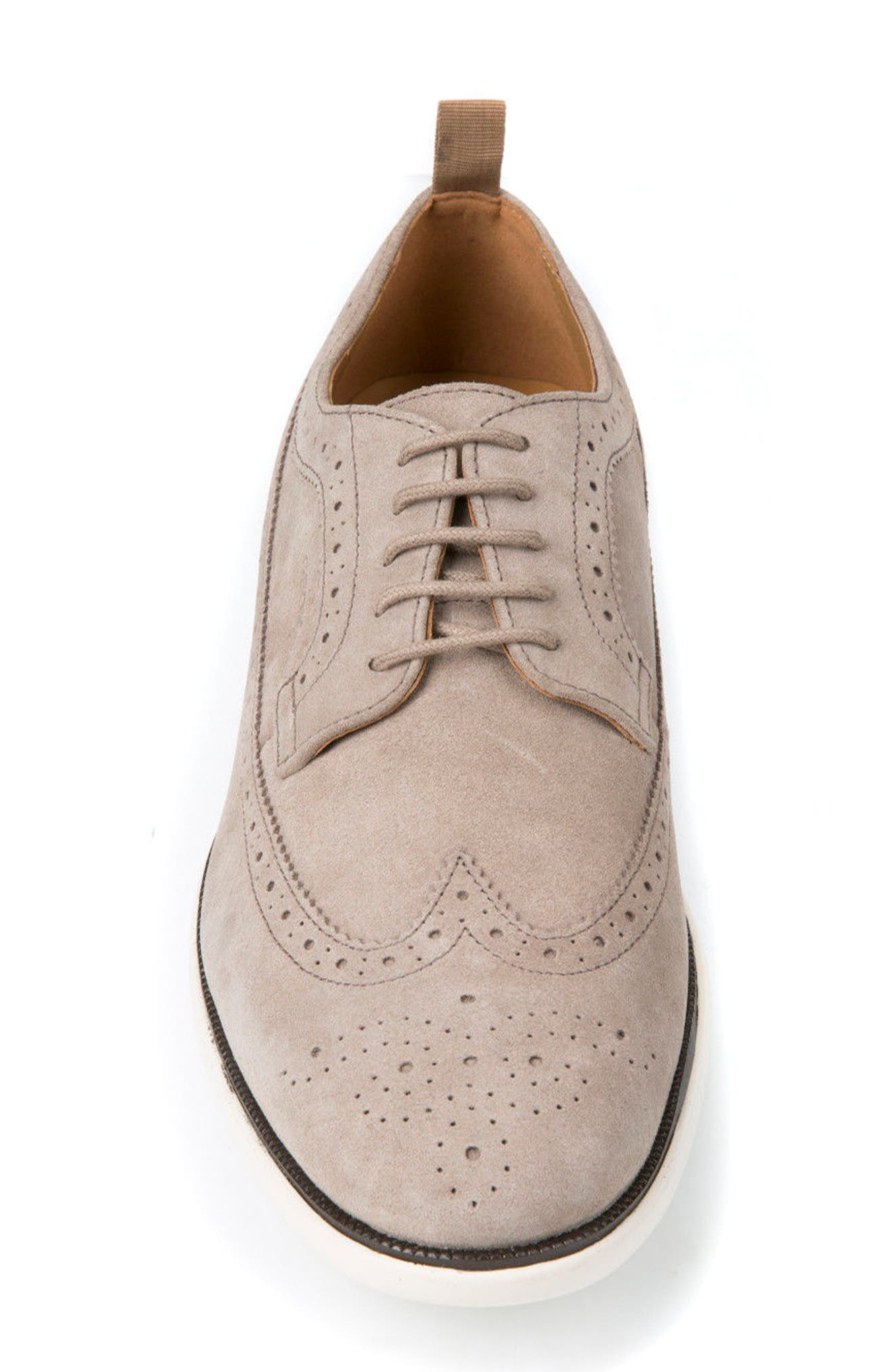 Winfred 2 Wingtip,                             Alternate thumbnail 4, color,                             Taupe Suede