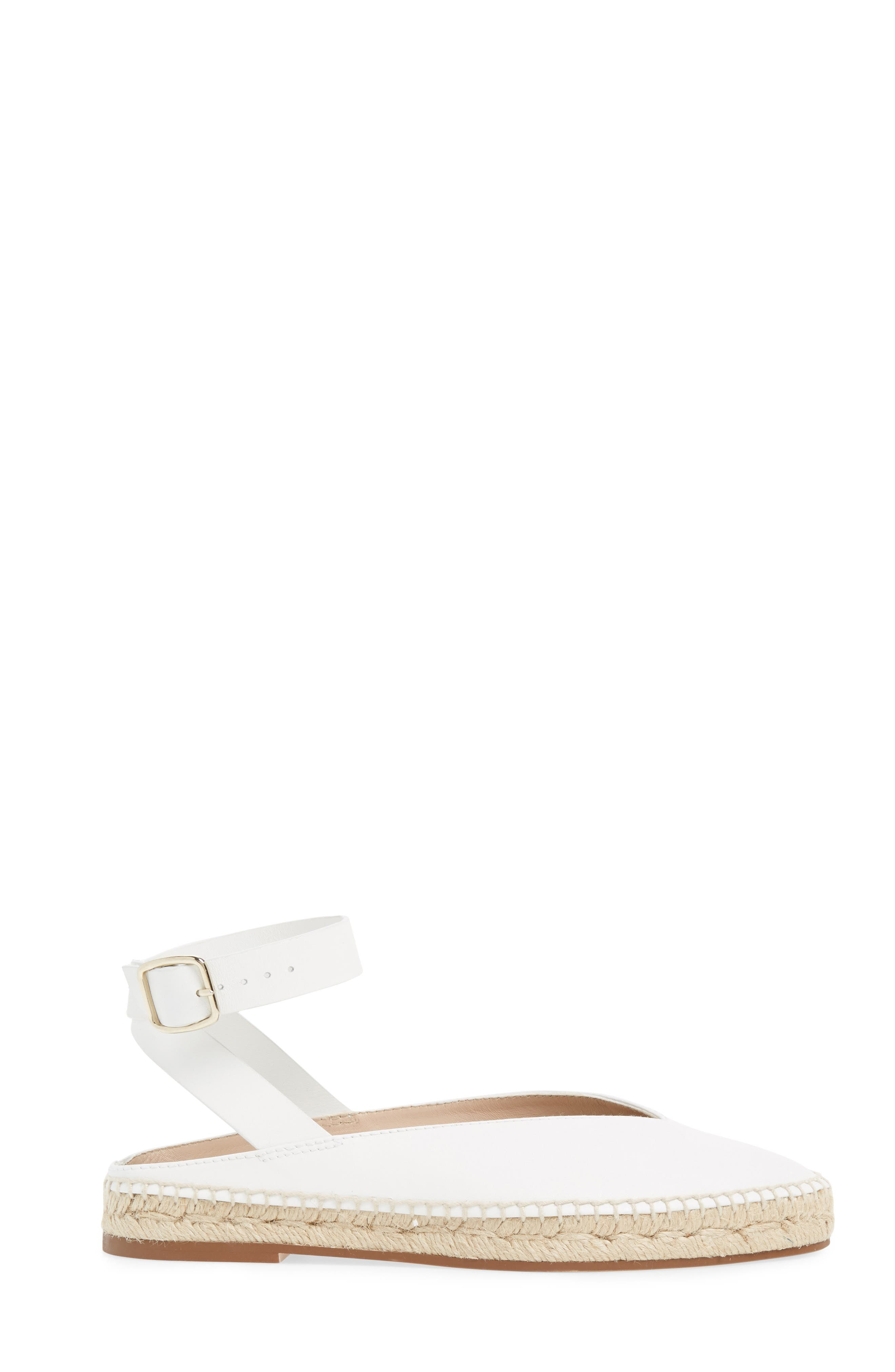 Toga Ankle Wrap Espadrille,                             Alternate thumbnail 3, color,                             Off White Arizona