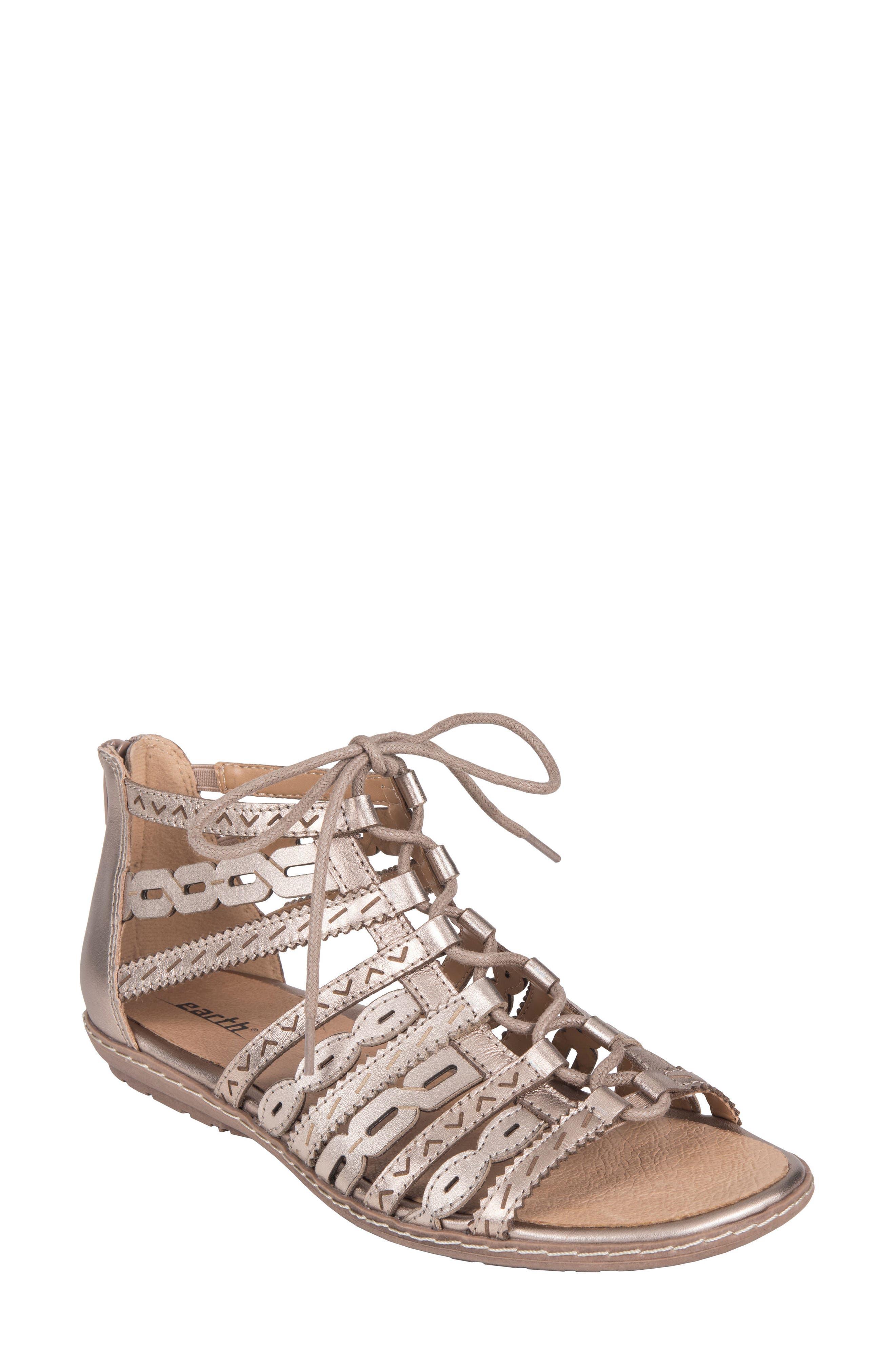 Tidal Mid Top Ghillie Sandal,                         Main,                         color, Titanium Leather
