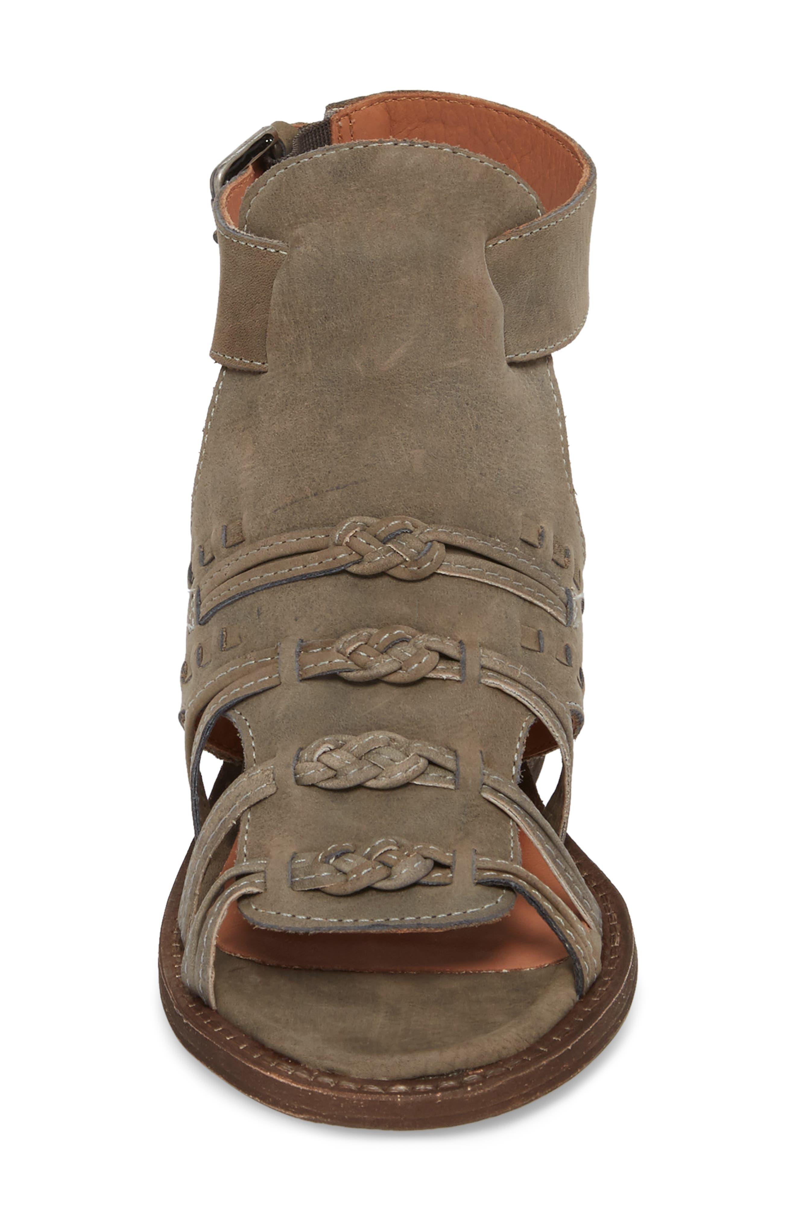 Volcano Sandal,                             Alternate thumbnail 4, color,                             Grey Leather