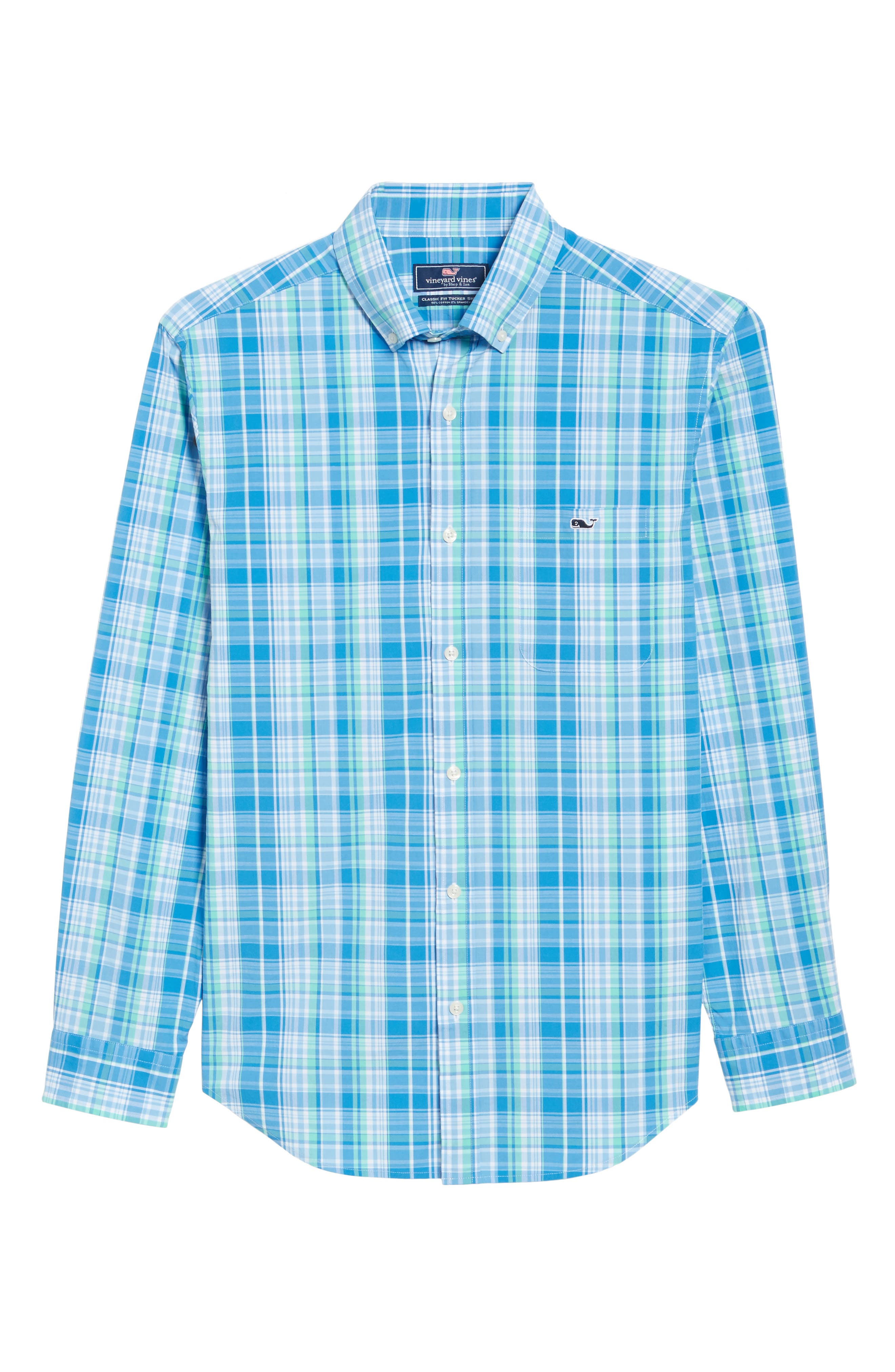 Bougainvillea Classic Fit Plaid Sport Shirt,                             Alternate thumbnail 6, color,                             Antigua Green