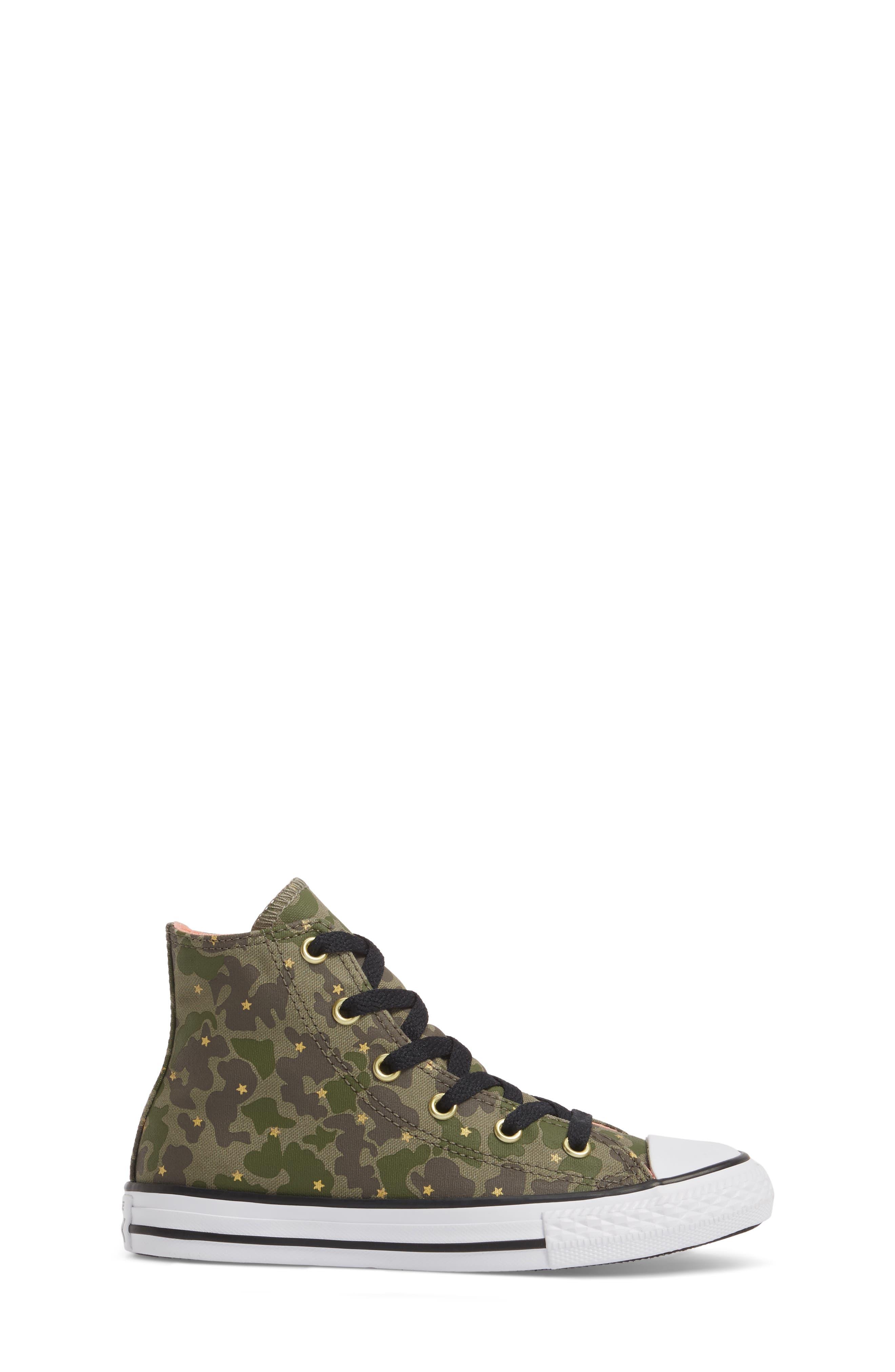 Camo High Top Sneaker,                             Alternate thumbnail 3, color,                             Surplus