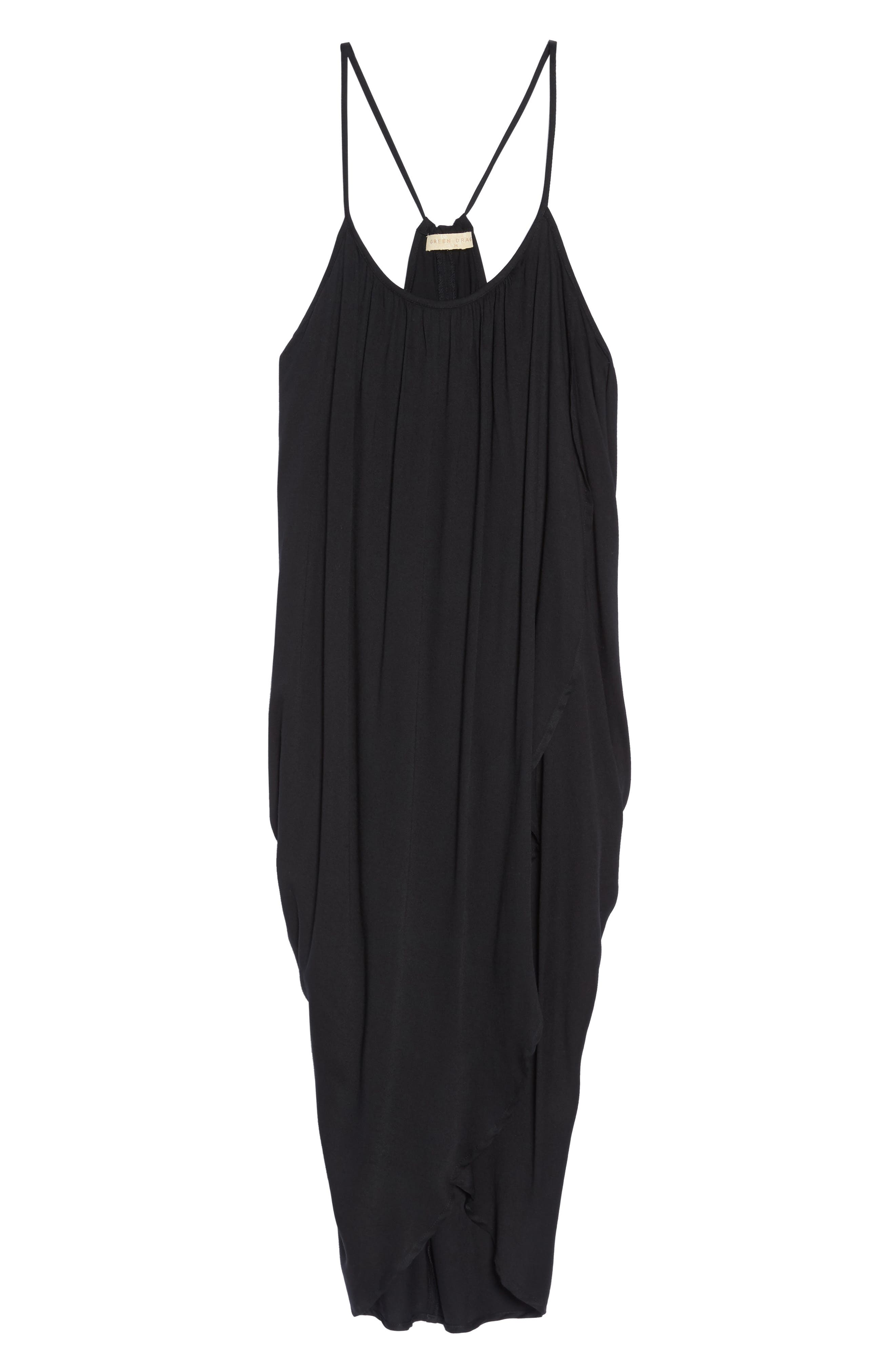 California Core Pali Wrap Cover-Up Dress,                             Alternate thumbnail 6, color,                             Black