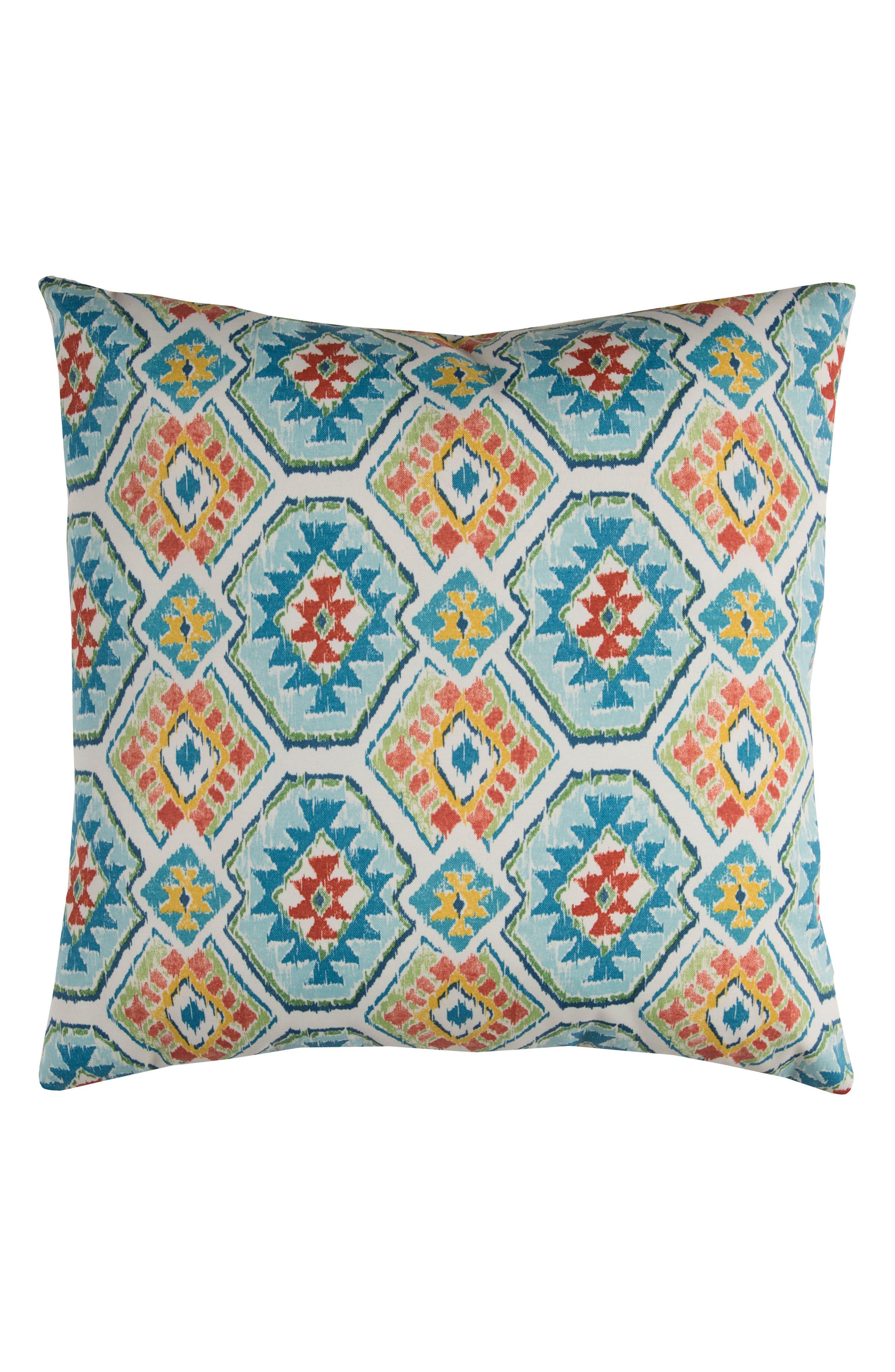Chevron Outdoor Pillow,                             Main thumbnail 1, color,                             Blue