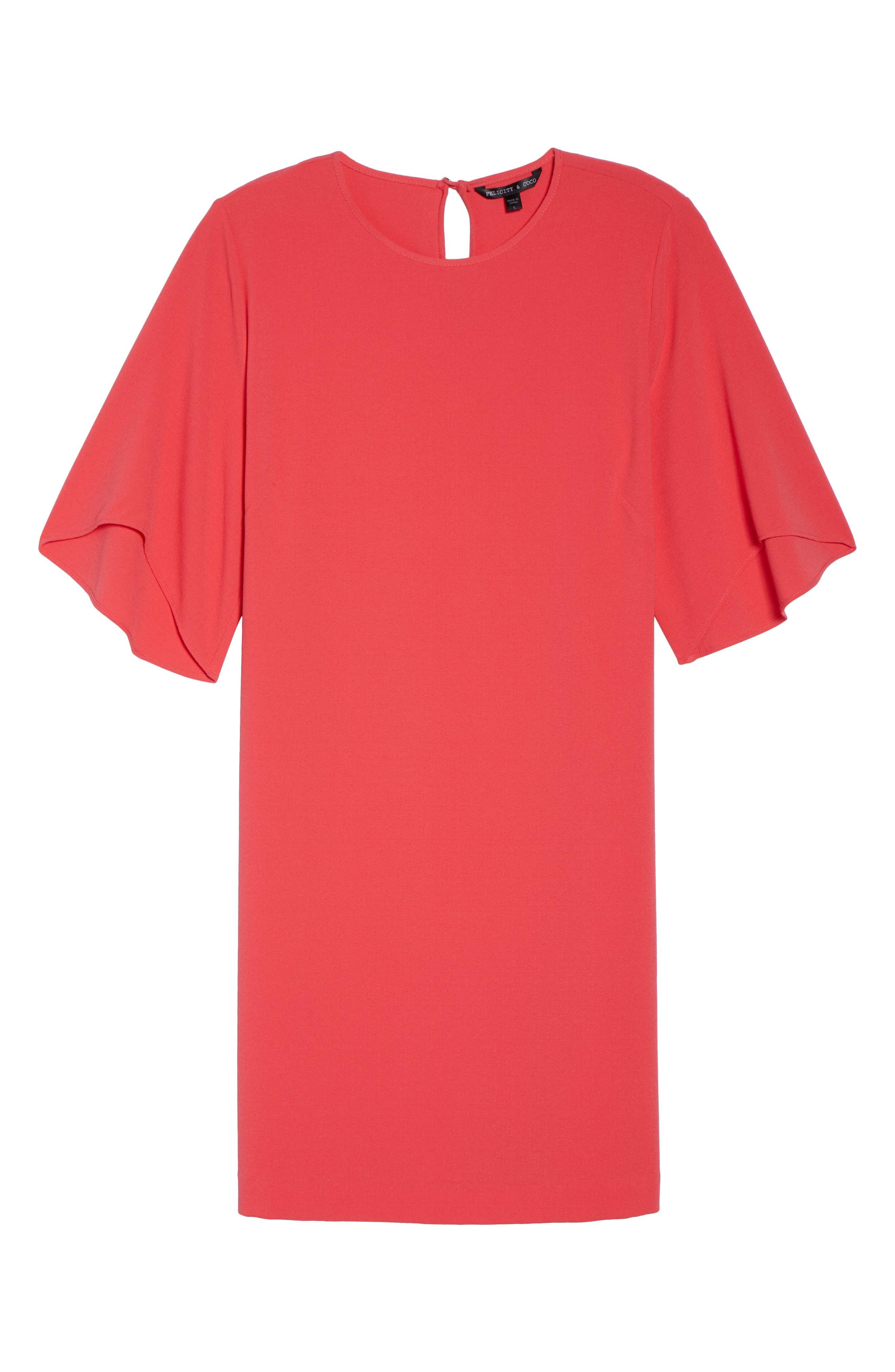 Tor Shift Dress,                             Alternate thumbnail 6, color,                             Geranium