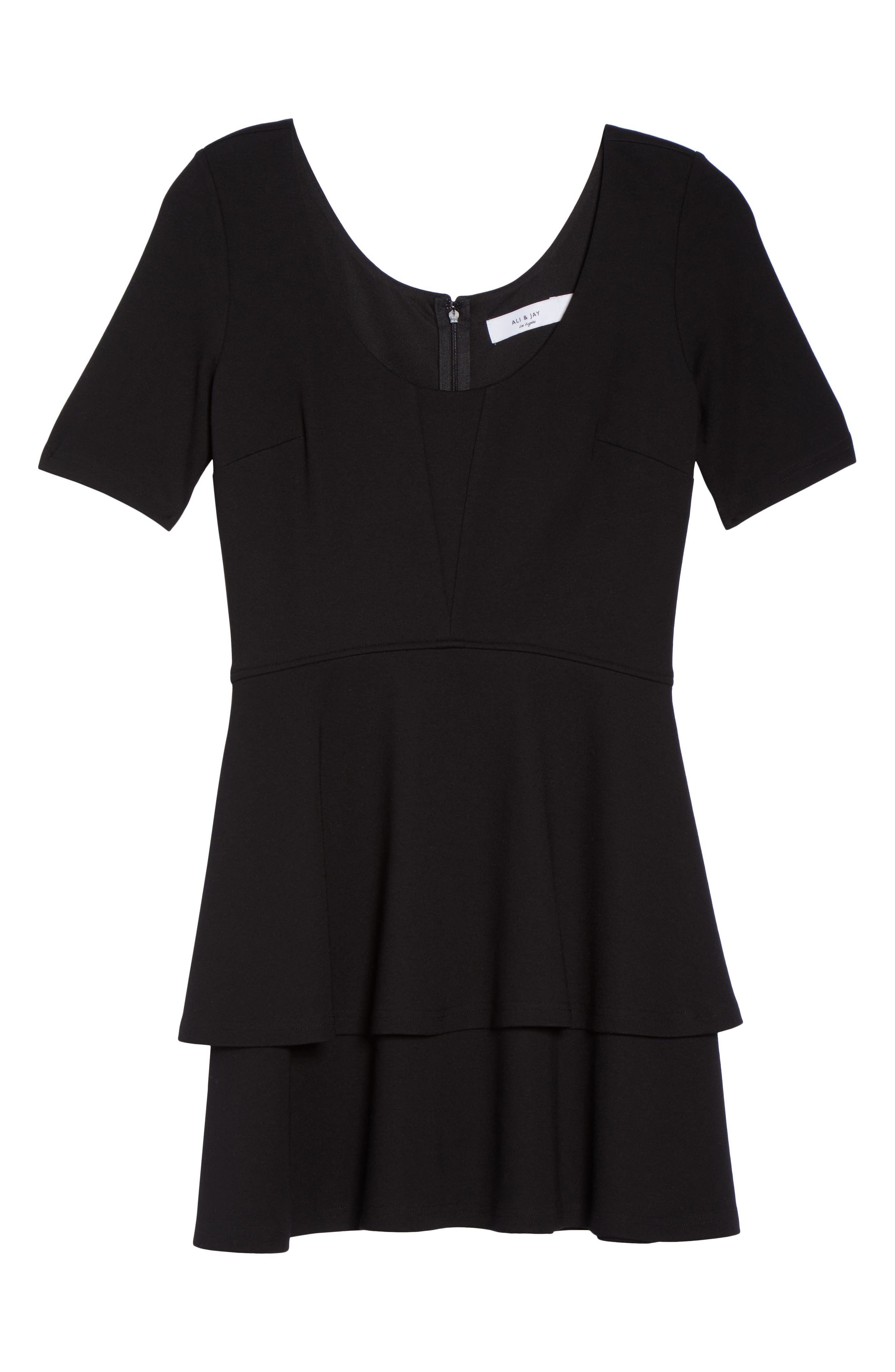 Isn't It Sweet Fit & Flare Dress,                             Alternate thumbnail 7, color,                             Black