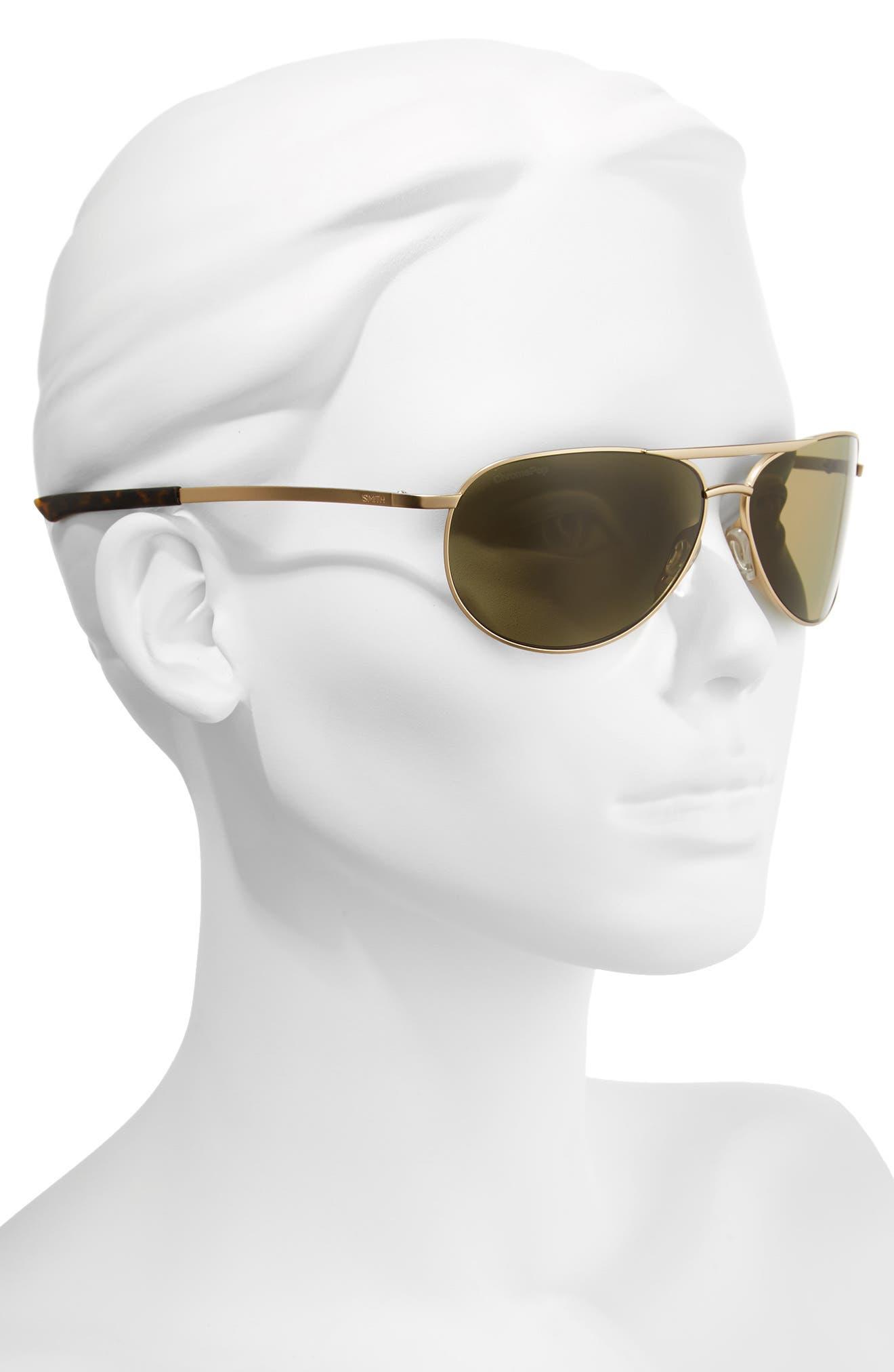 Serpico Slim 2.0 60mm ChromaPop Polarized Aviator Sunglasses,                             Alternate thumbnail 2, color,                             Gold/ Brown Polar