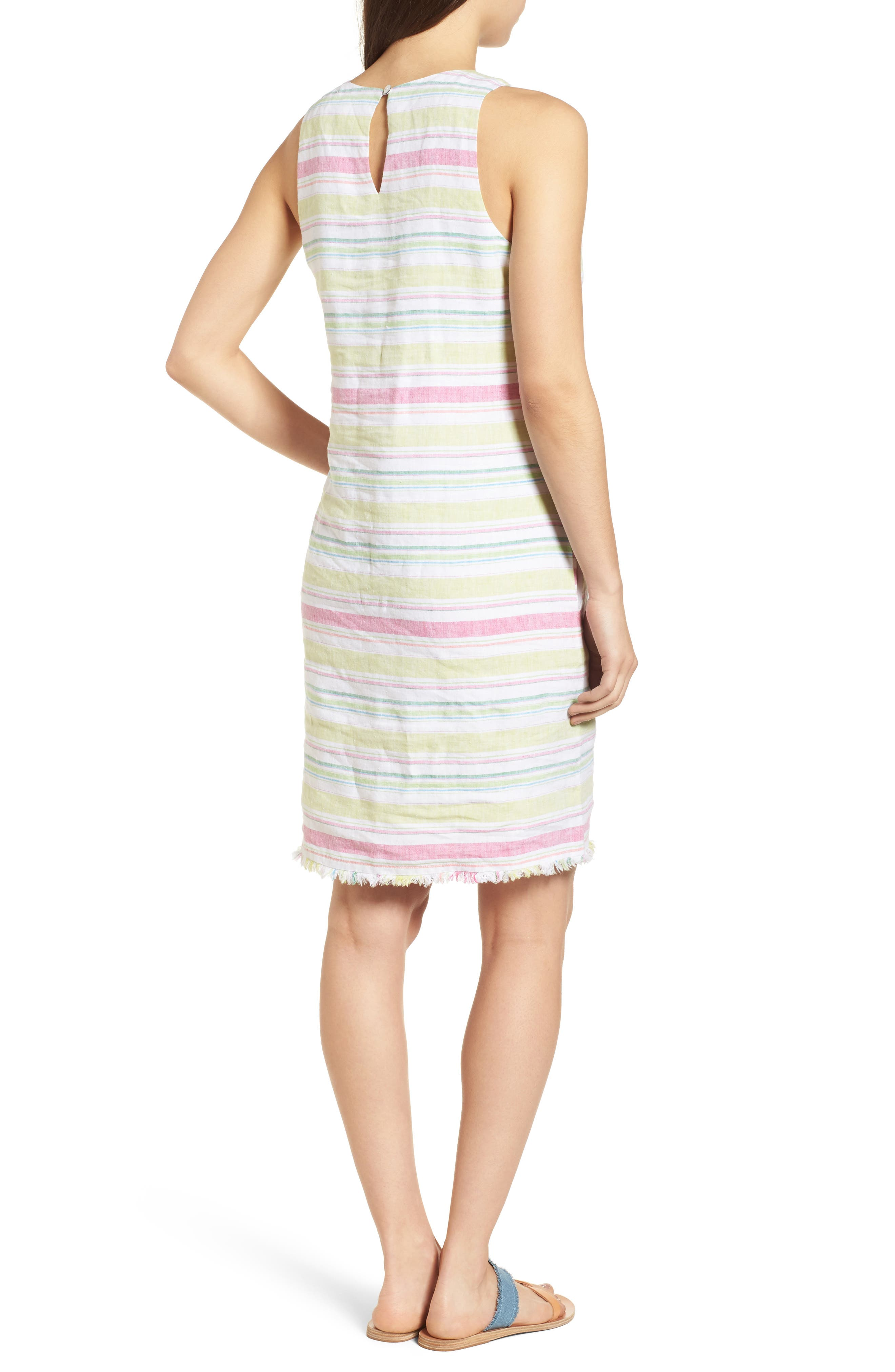 Tulum Stripe Shift Dress,                             Alternate thumbnail 2, color,                             Energy Yellow