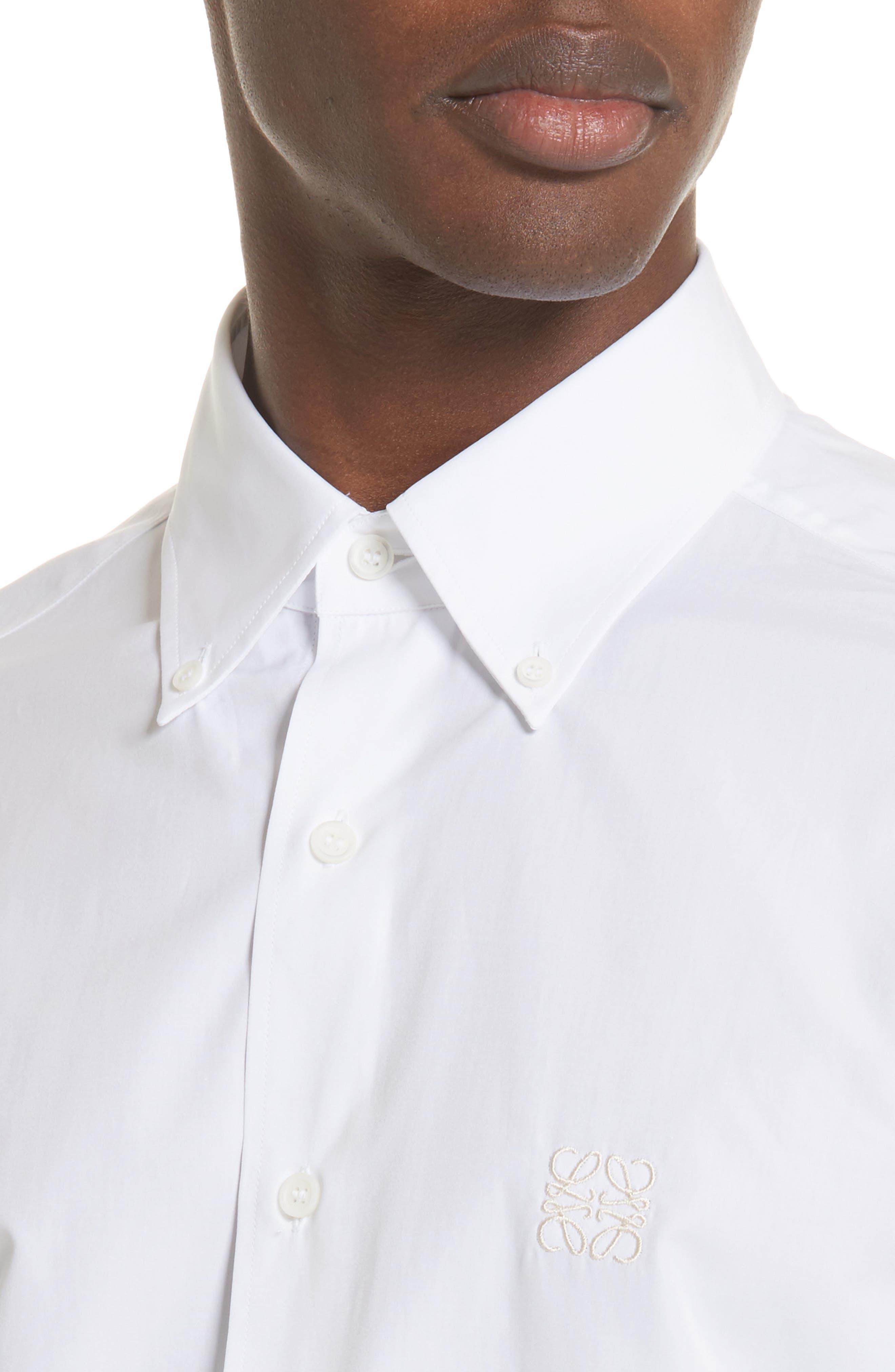 Blouson Hem Shirt,                             Alternate thumbnail 4, color,                             White