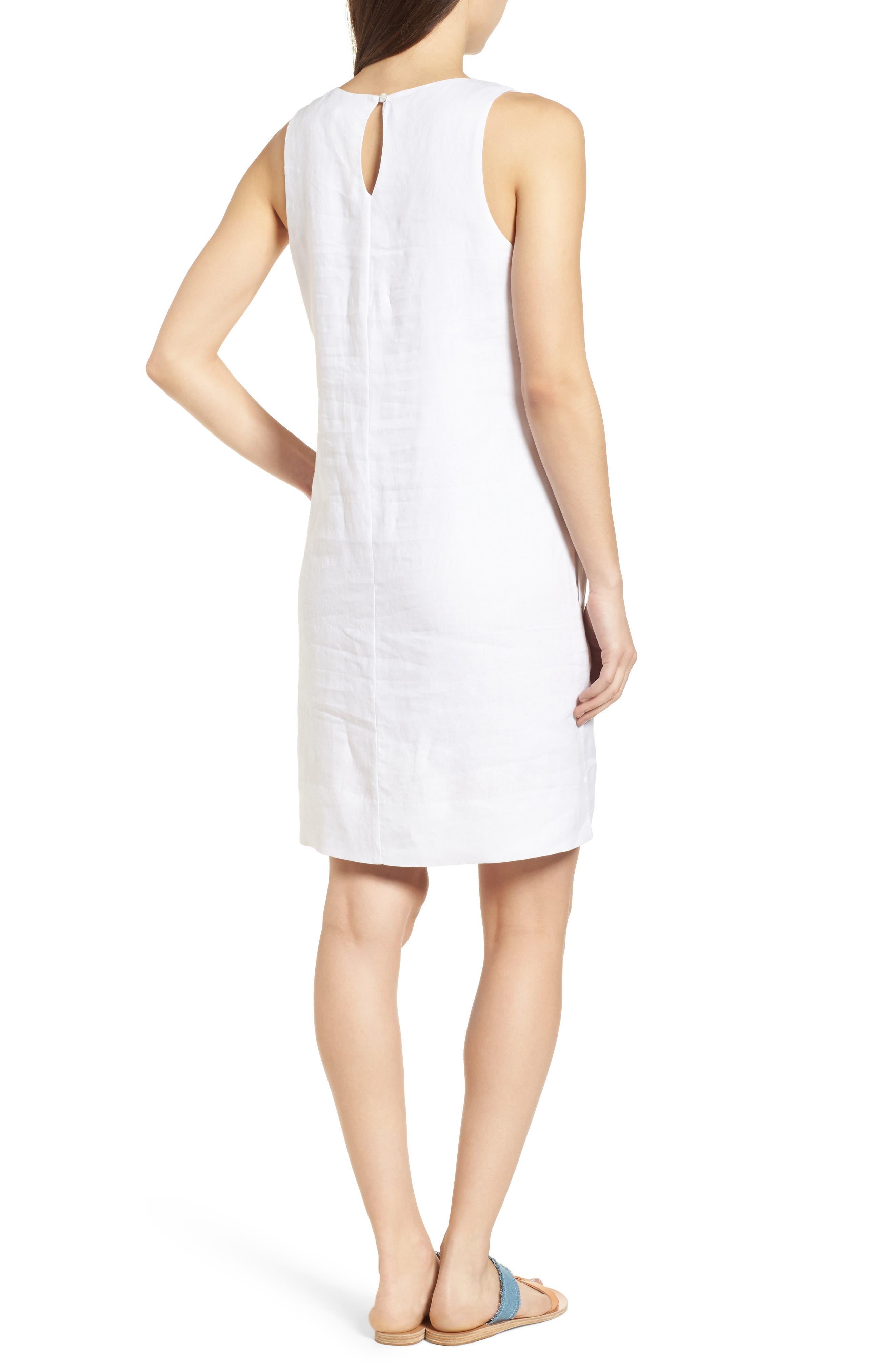 Cricue de Palm Shift Dress,                             Alternate thumbnail 2, color,                             White