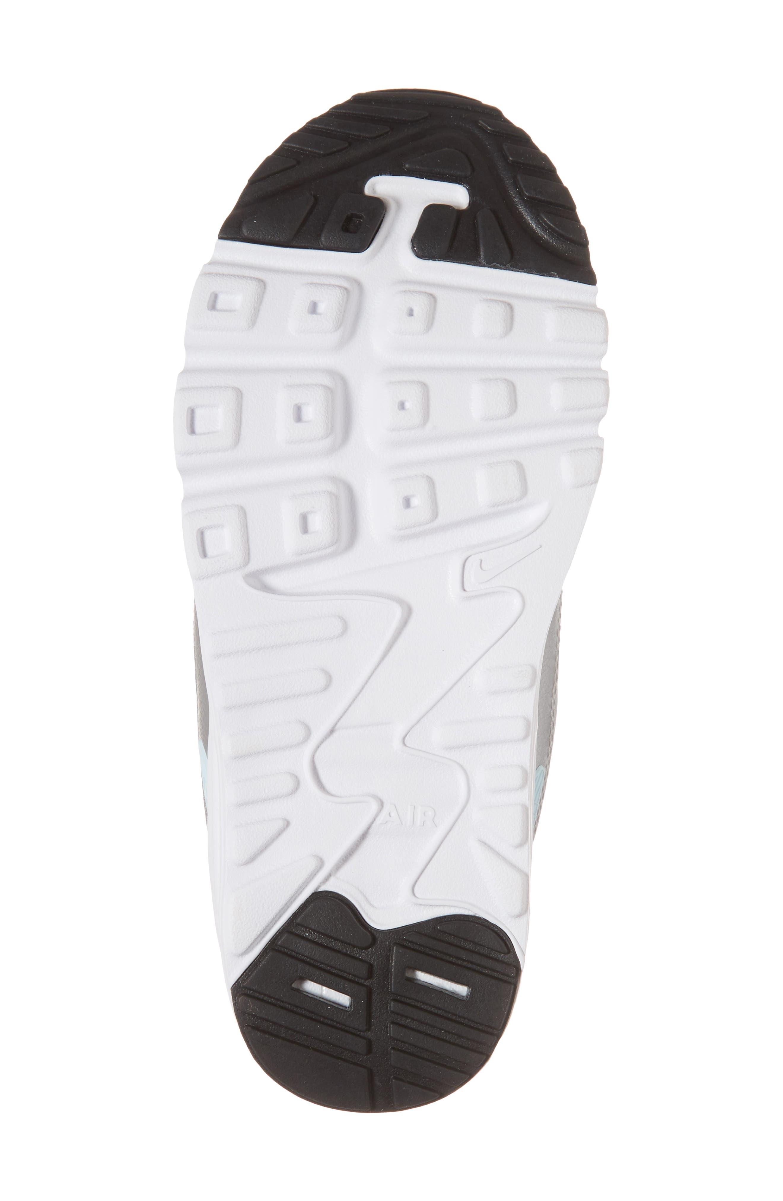 Air Max Tiny 90 Sneaker,                             Alternate thumbnail 6, color,                             Platinum/ Grey/ Silver