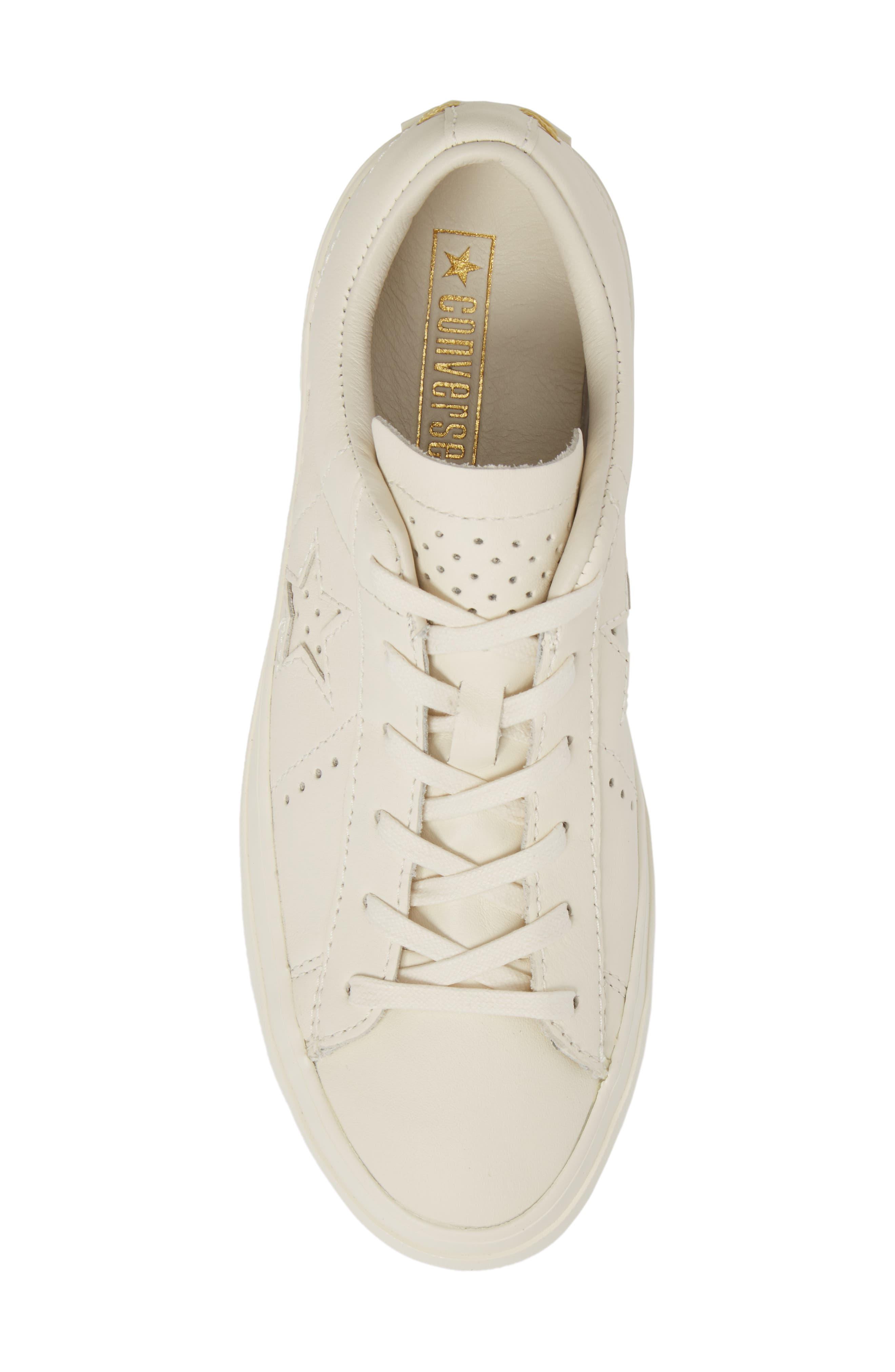 Chuck Taylor<sup>®</sup> All Star<sup>®</sup> One Star Platform Sneaker,                             Alternate thumbnail 5, color,                             Egret/ Egret