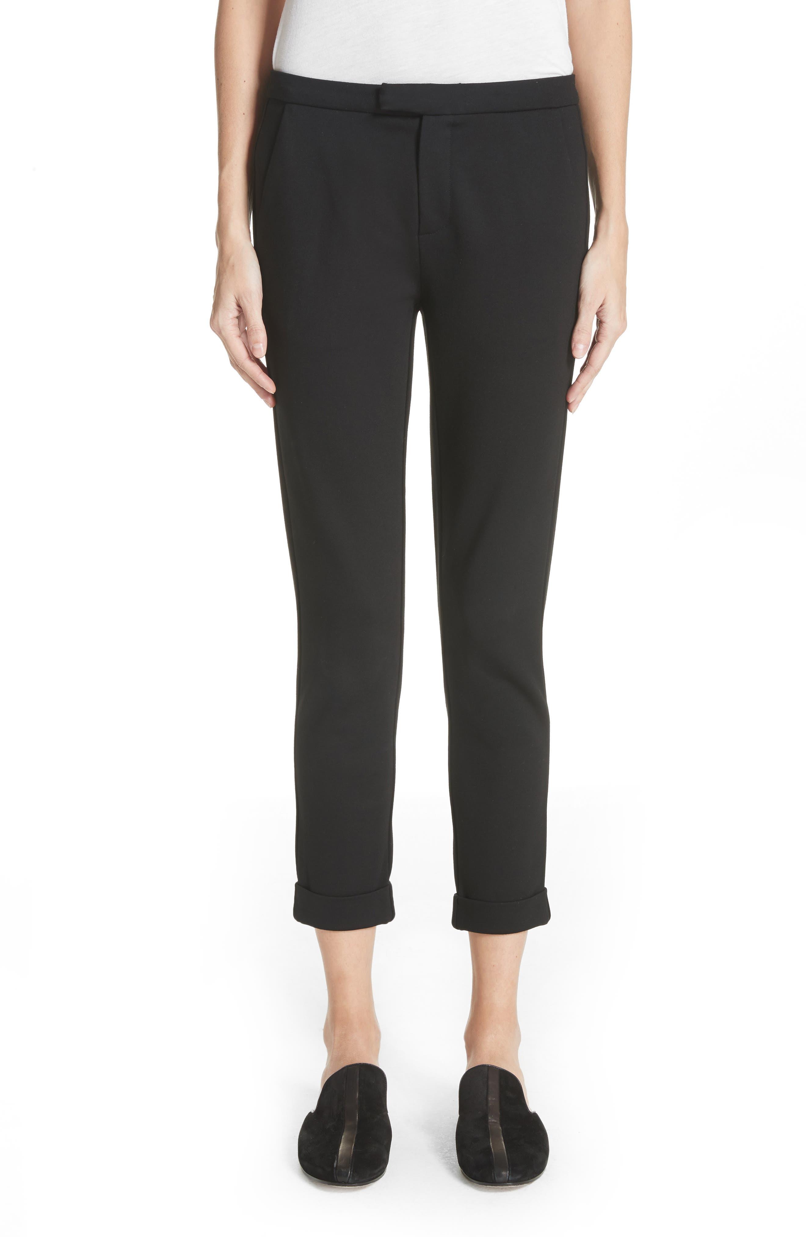 Shawnta Crop Pants,                         Main,                         color, Caviar