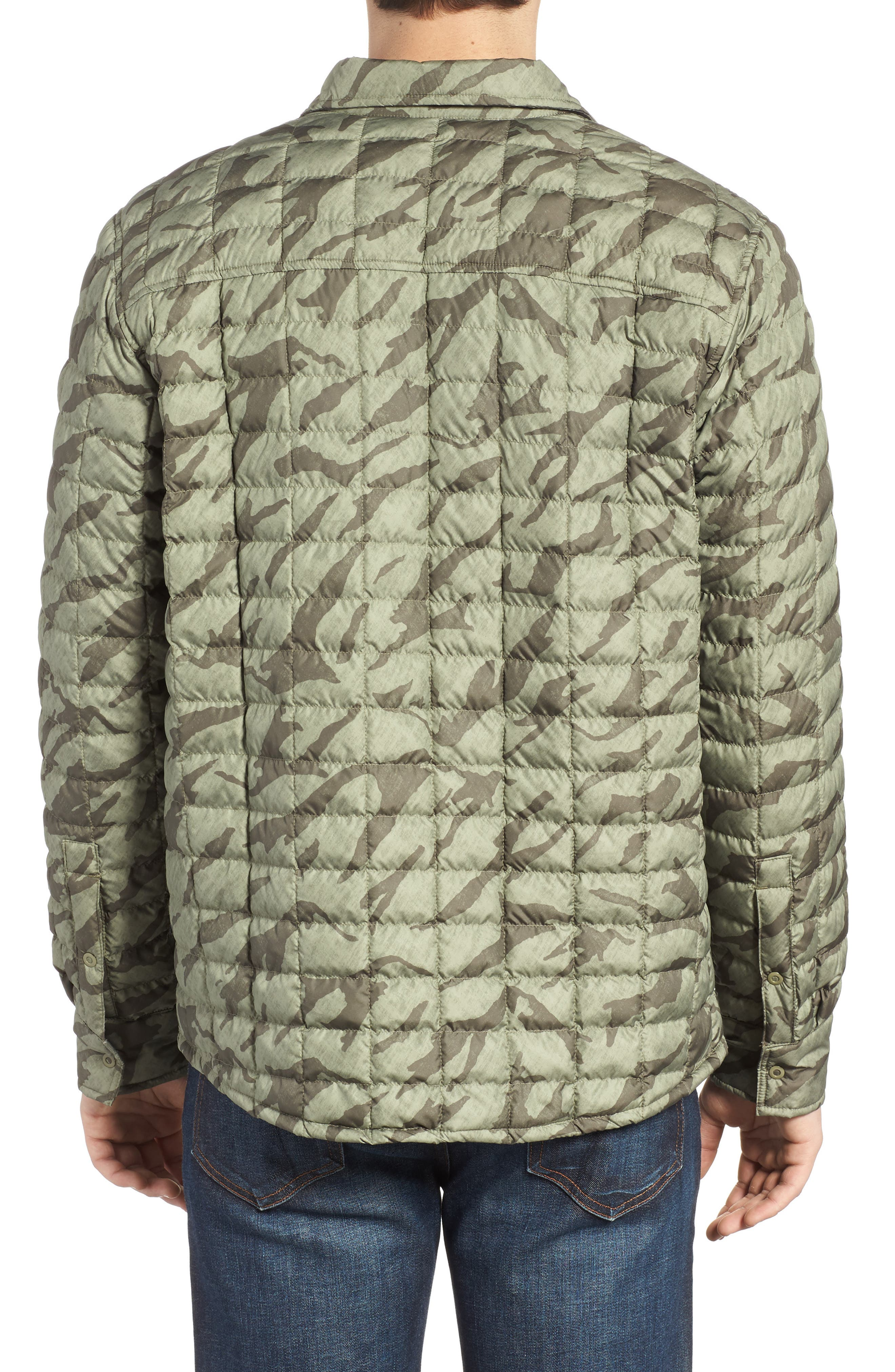 Reyes ThermoBall Shirt Jacket,                             Alternate thumbnail 2, color,                             Deep Lichen Green