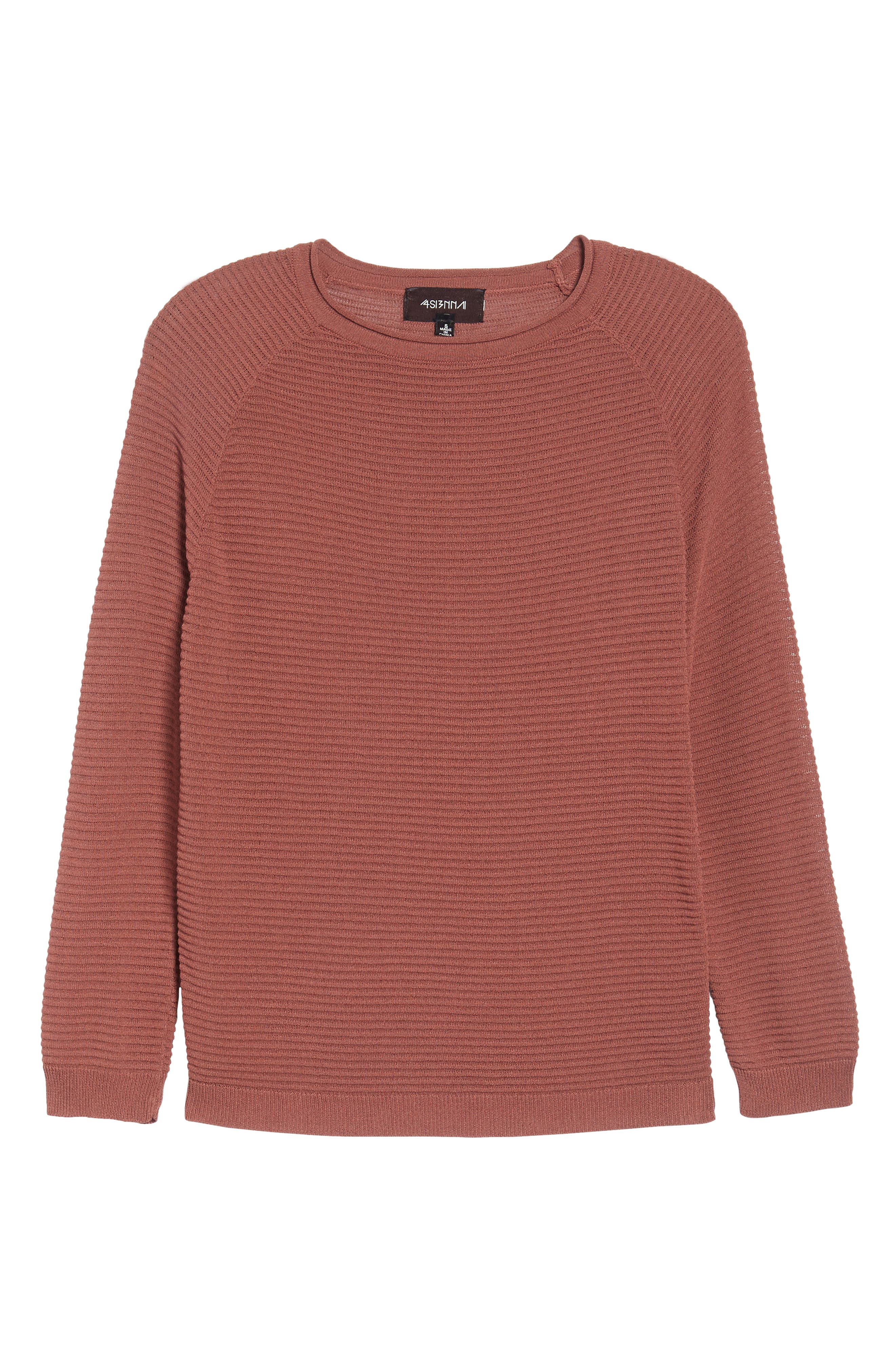 Ribbed Sweatshirt,                             Alternate thumbnail 7, color,                             Dusty Copper