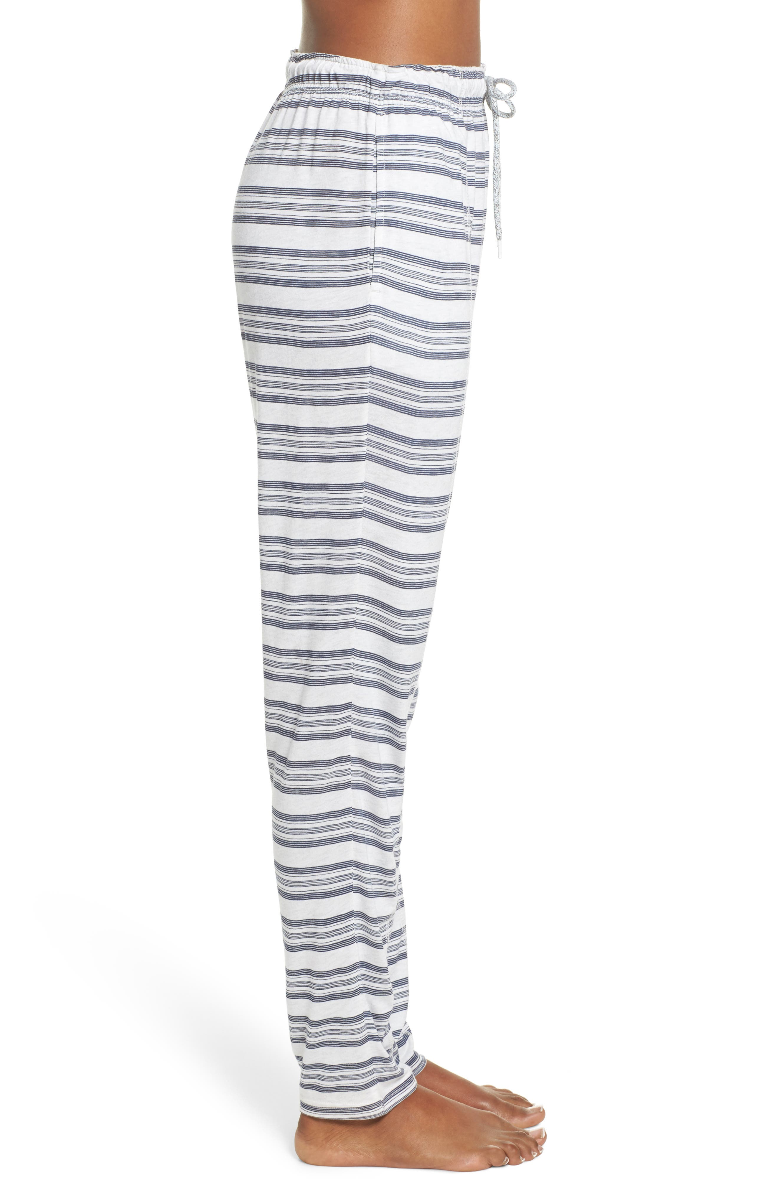 Alice Lounge Pants,                             Alternate thumbnail 2, color,                             Snow Marle Stripe