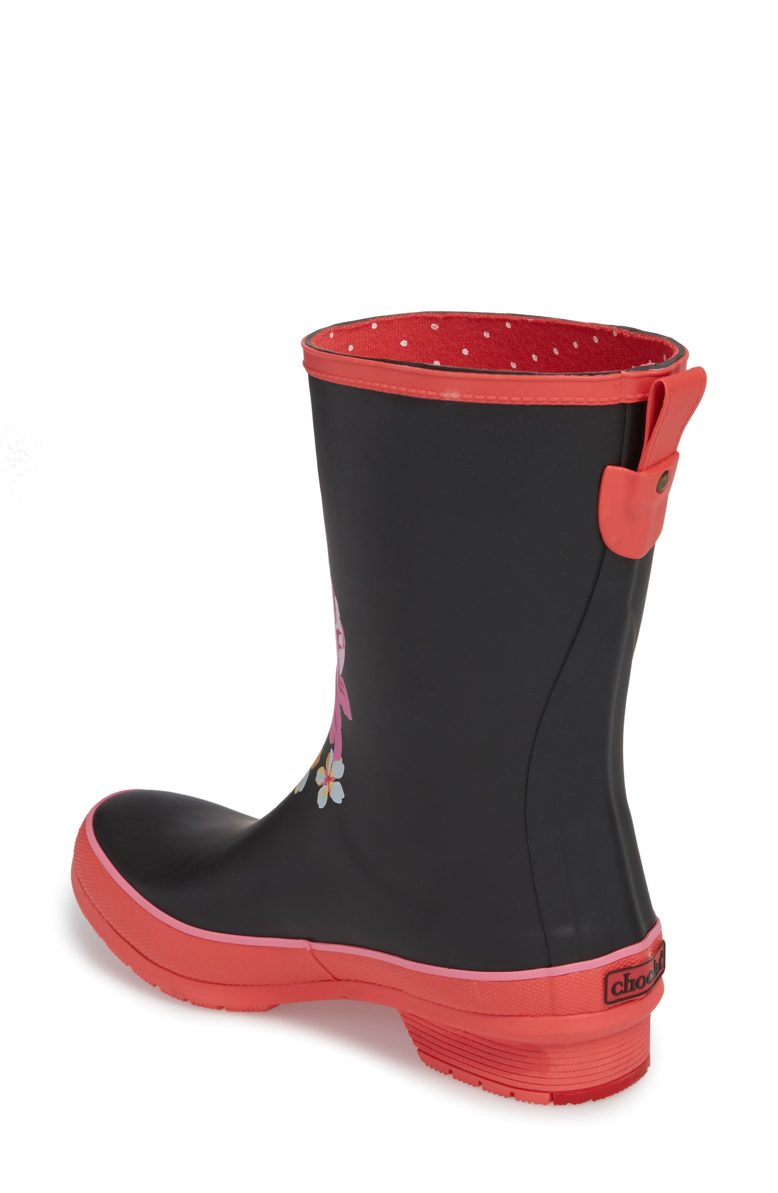 Hilde Mid Rain Boot,                             Alternate thumbnail 2, color,                             Fuchsia