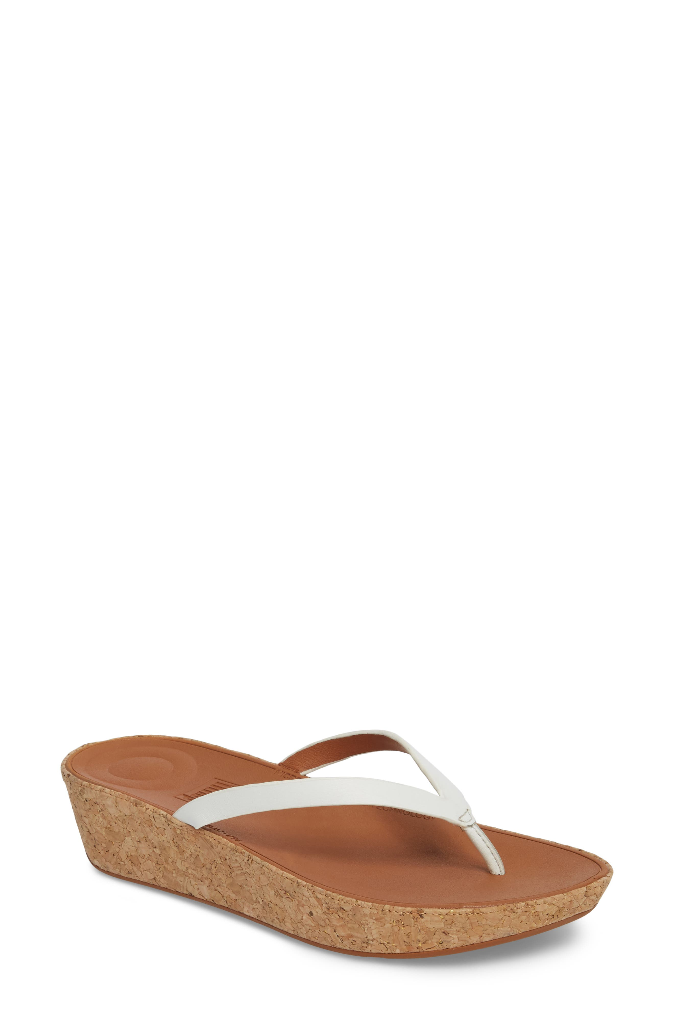 Linny Wedge Flip Flop,                         Main,                         color, Urban White
