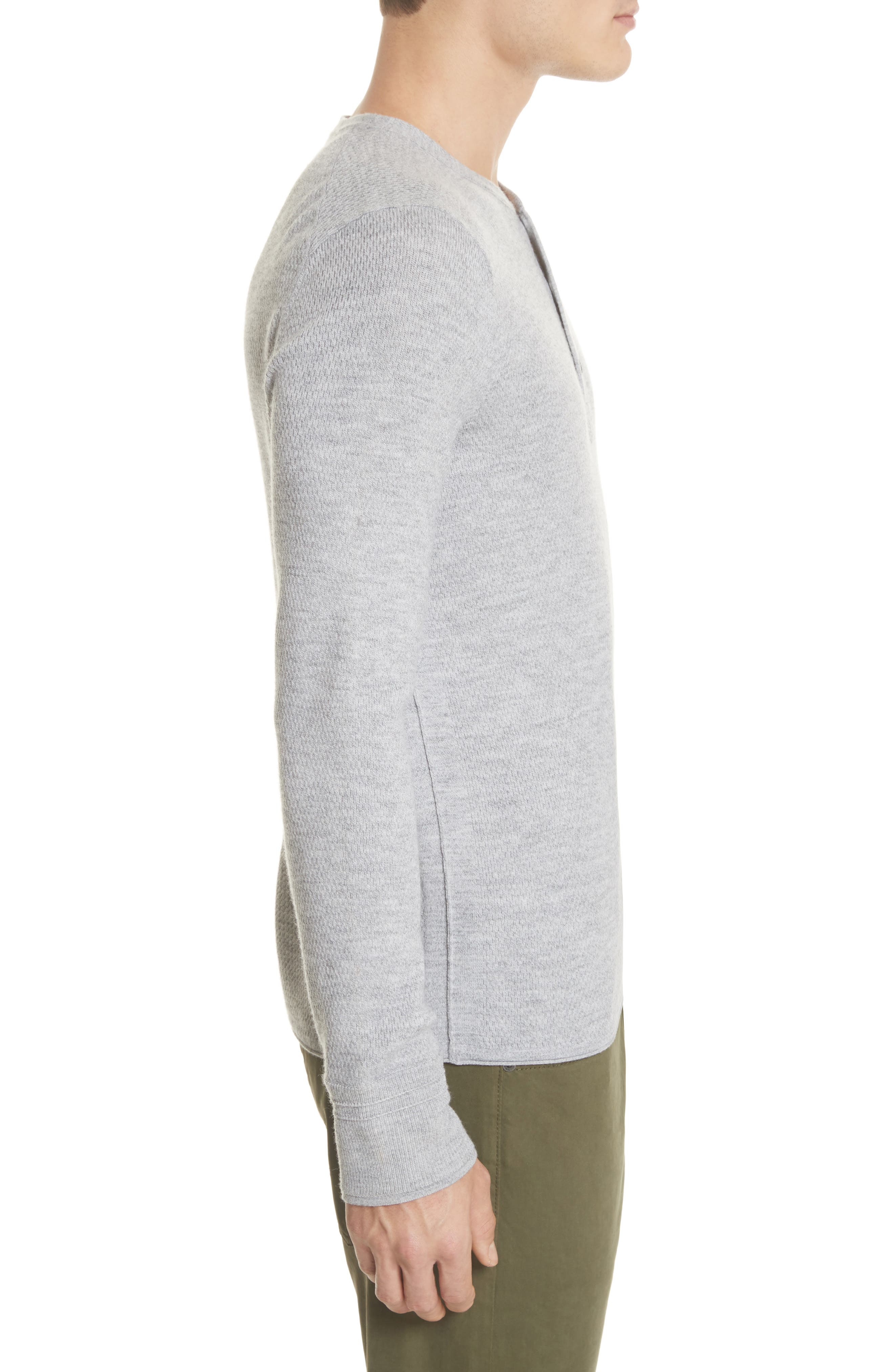 Gregory Wool Blend Thermal Henley,                             Alternate thumbnail 3, color,                             Grey