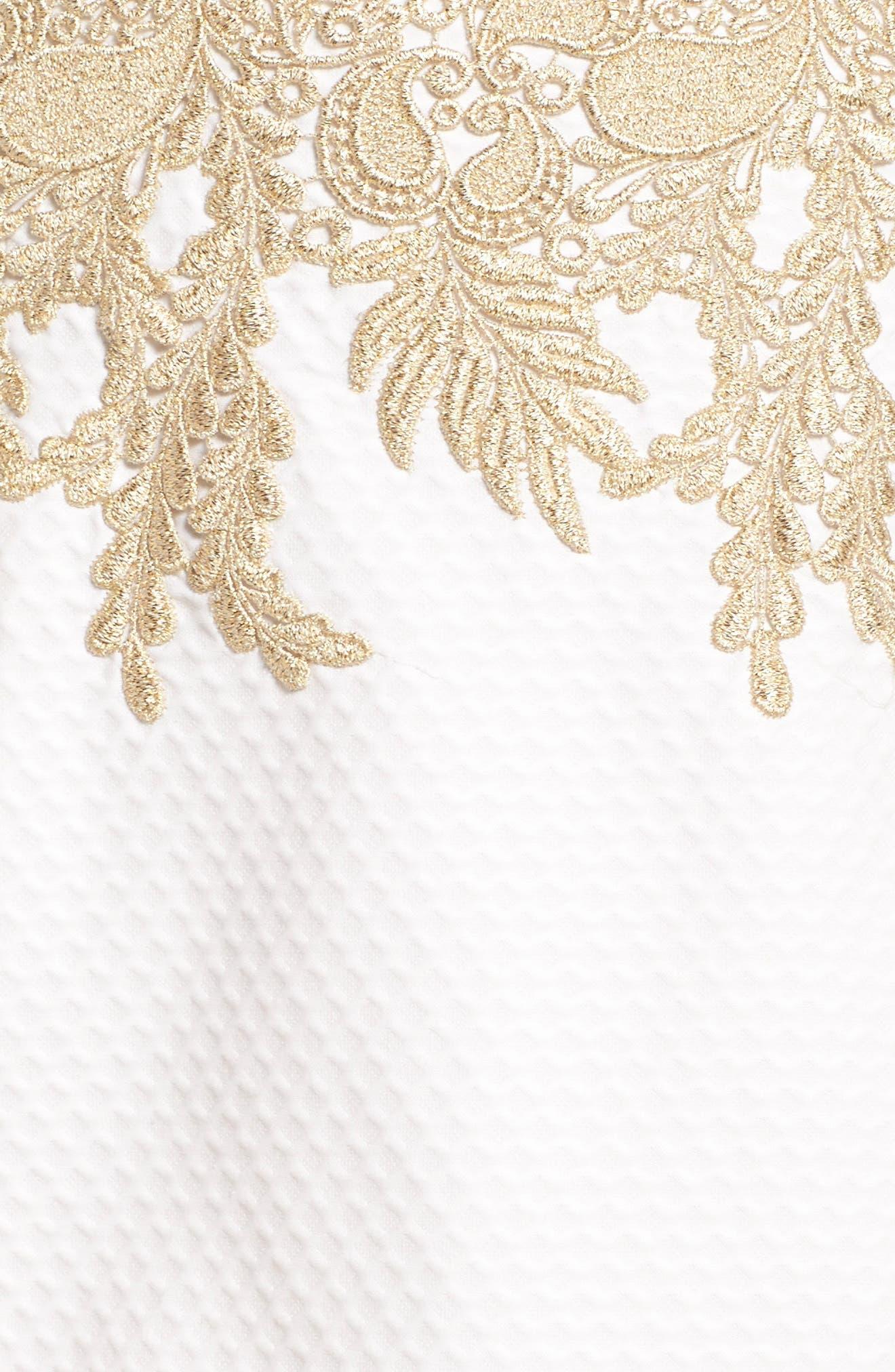 Kade Strapless Dress,                             Alternate thumbnail 5, color,                             Resort White