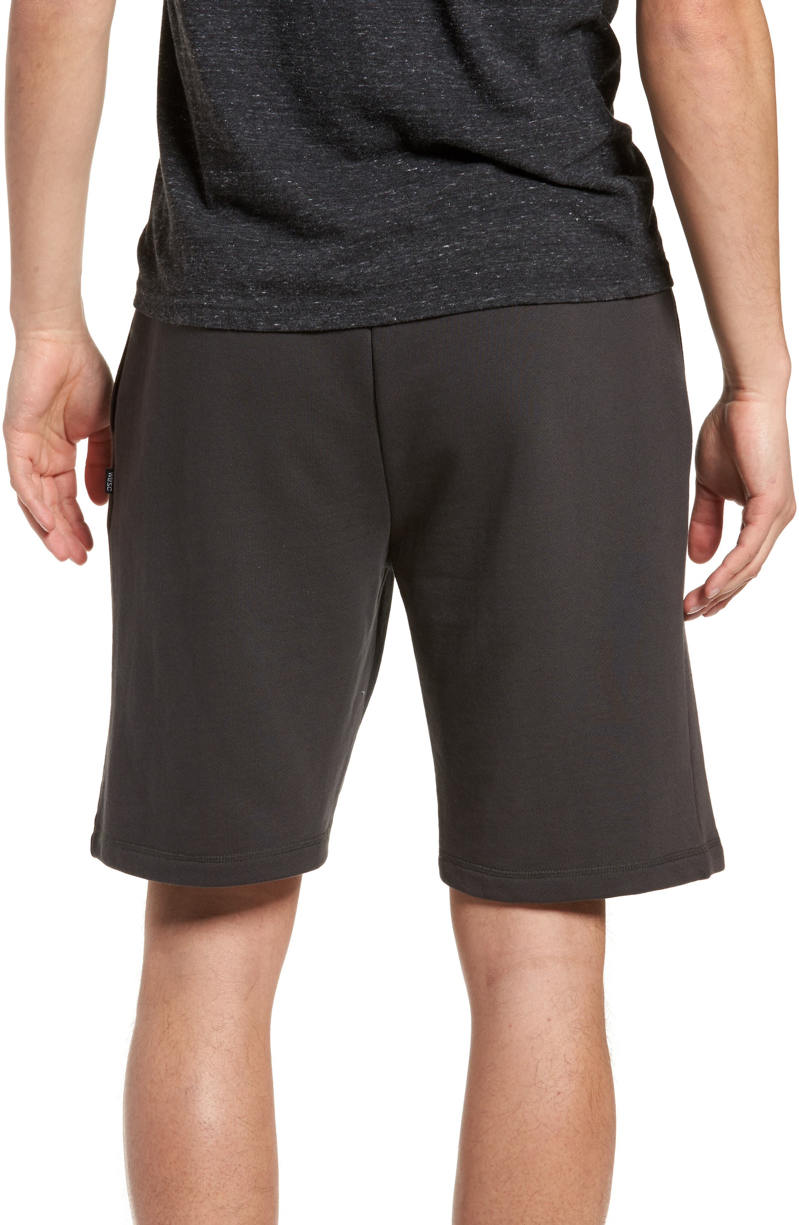 Marty Fleece Shorts,                             Alternate thumbnail 2, color,                             Pirate Black